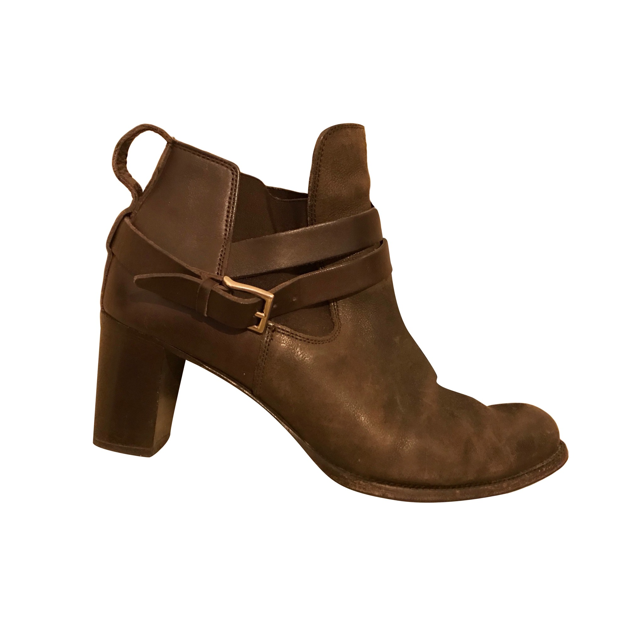 High Heel Ankle Boots HESCHUNG Brown
