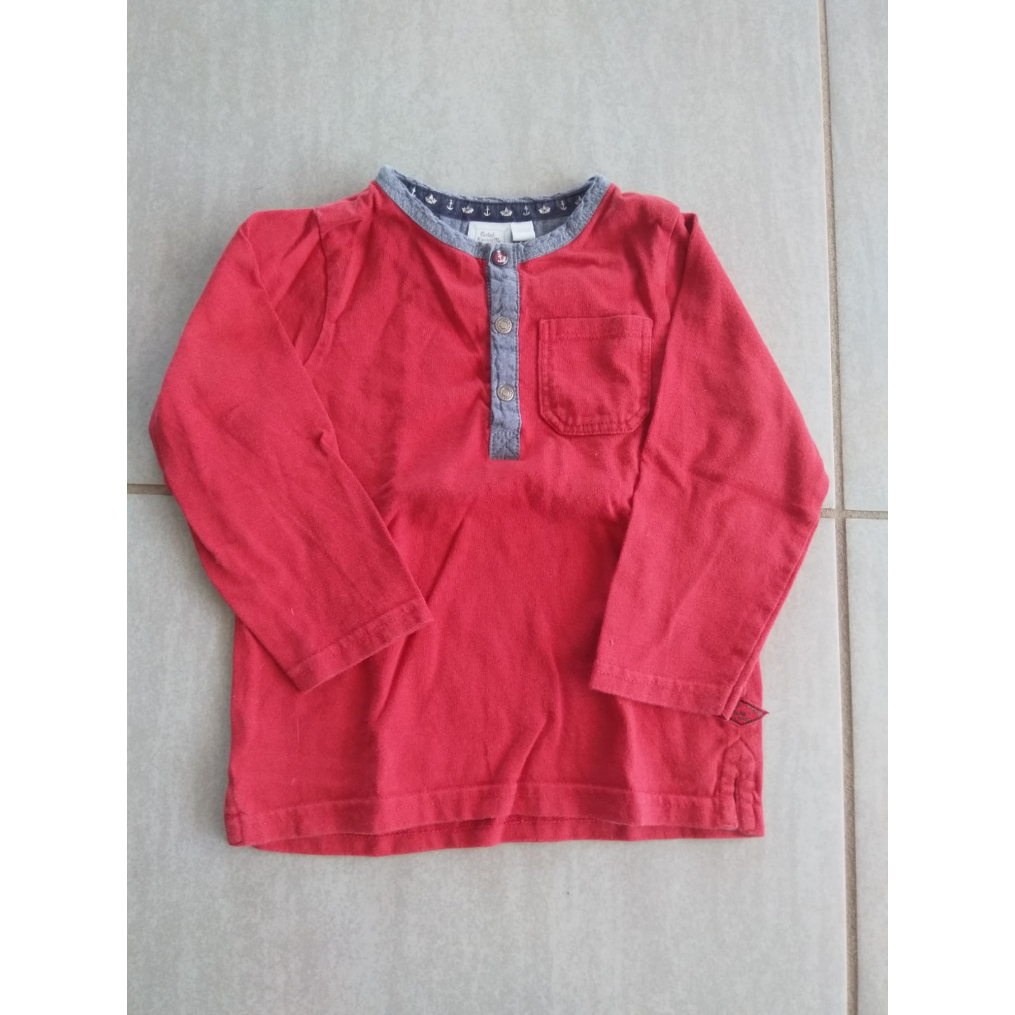 Top, T-shirt CADET ROUSSELLE Red, burgundy