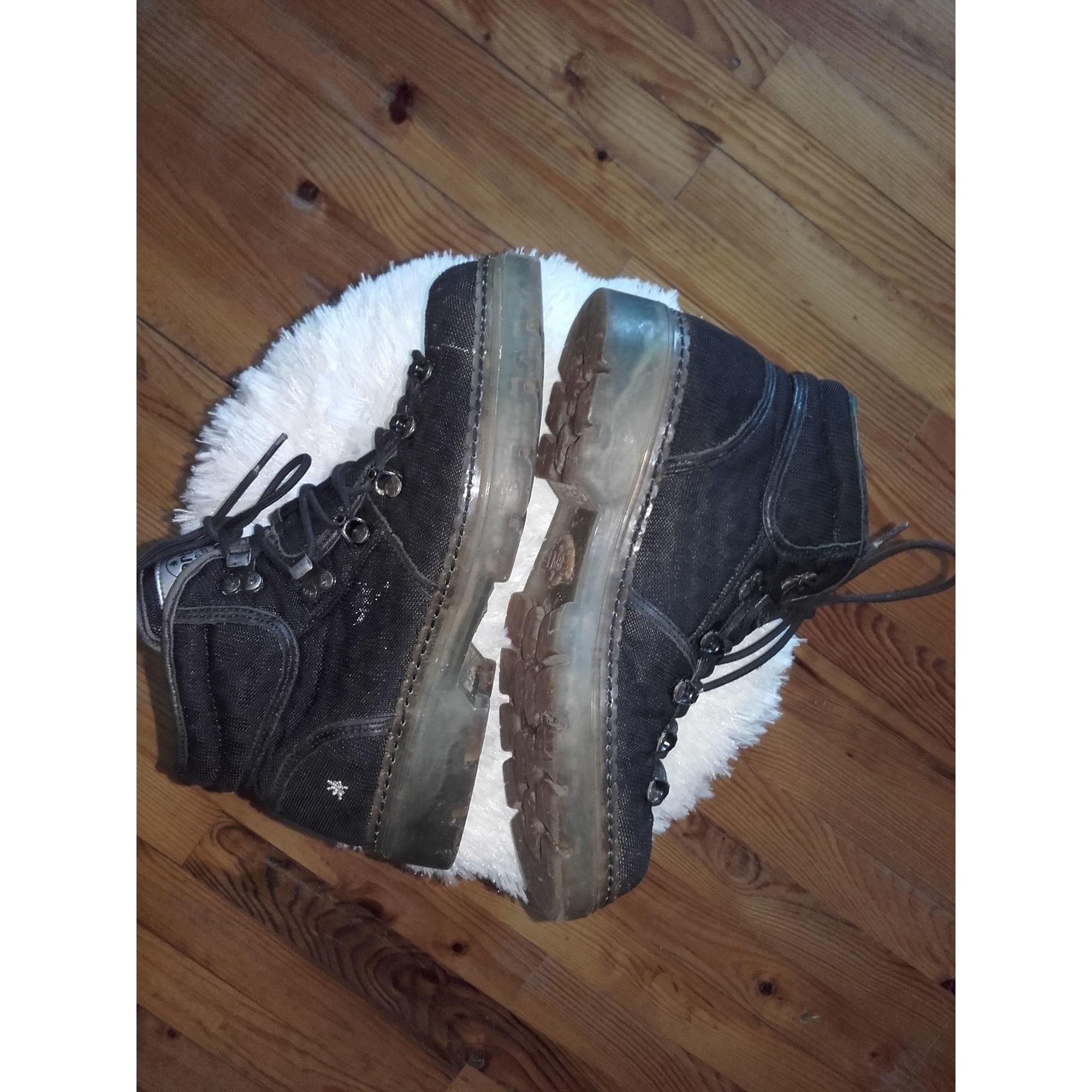 Bottines & low boots plates ART Noir