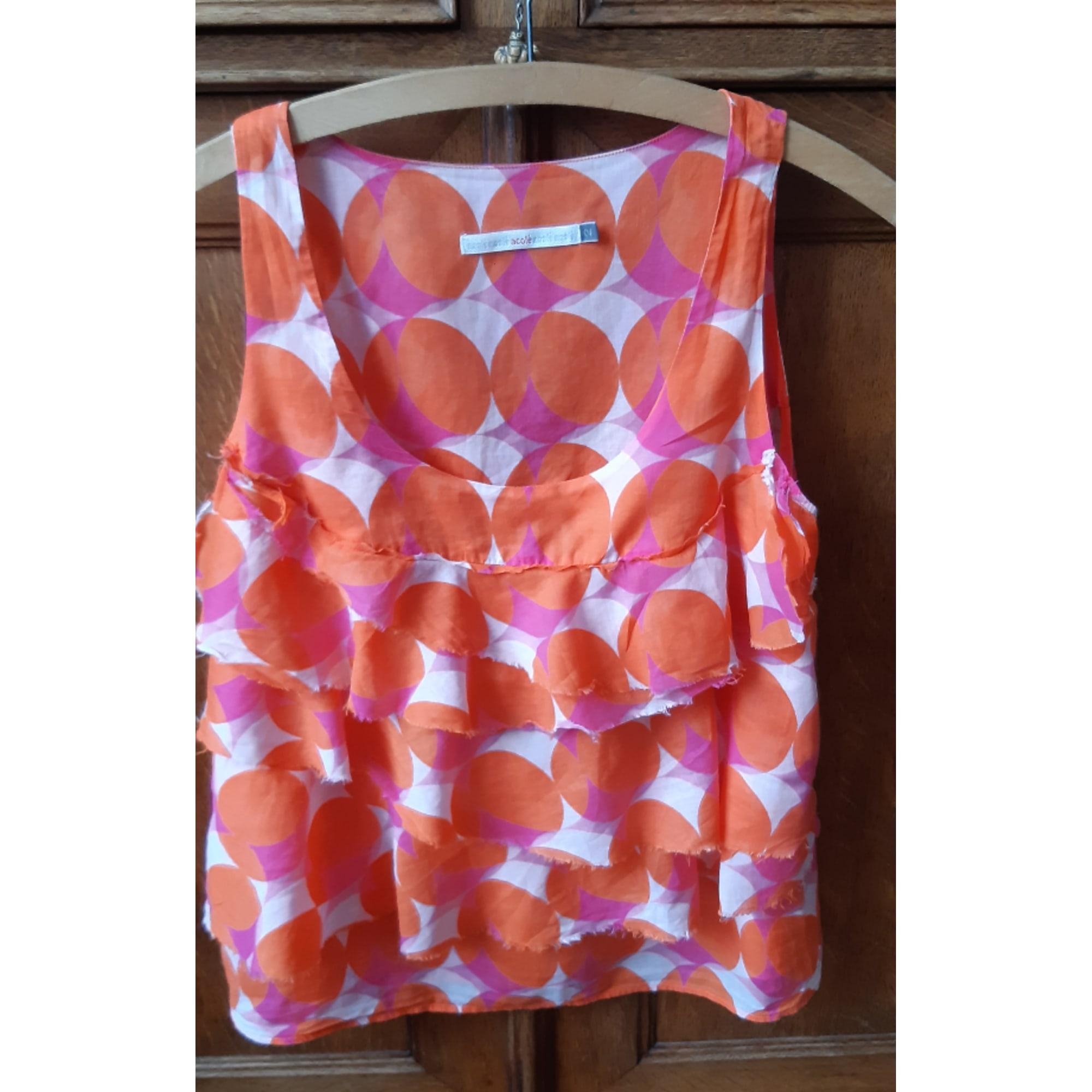 Top, tee-shirt COTÉLAC Orange