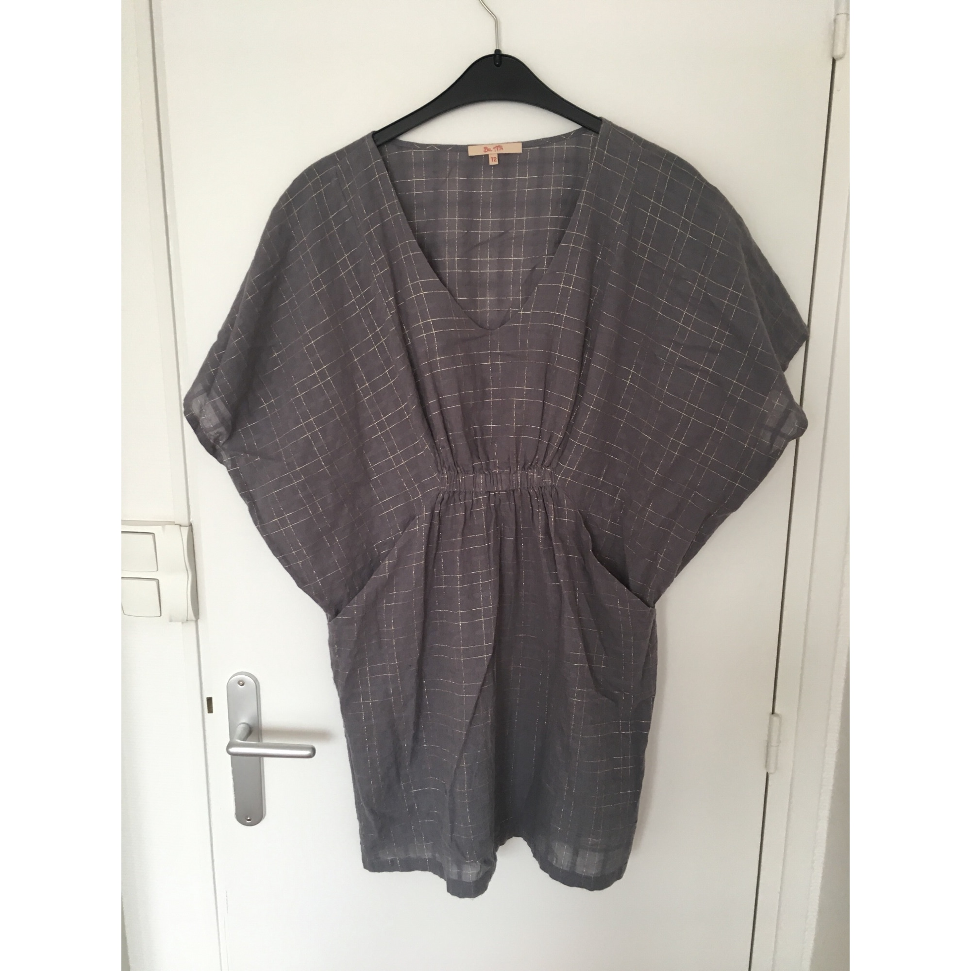 Robe courte BEL AIR Gris, anthracite