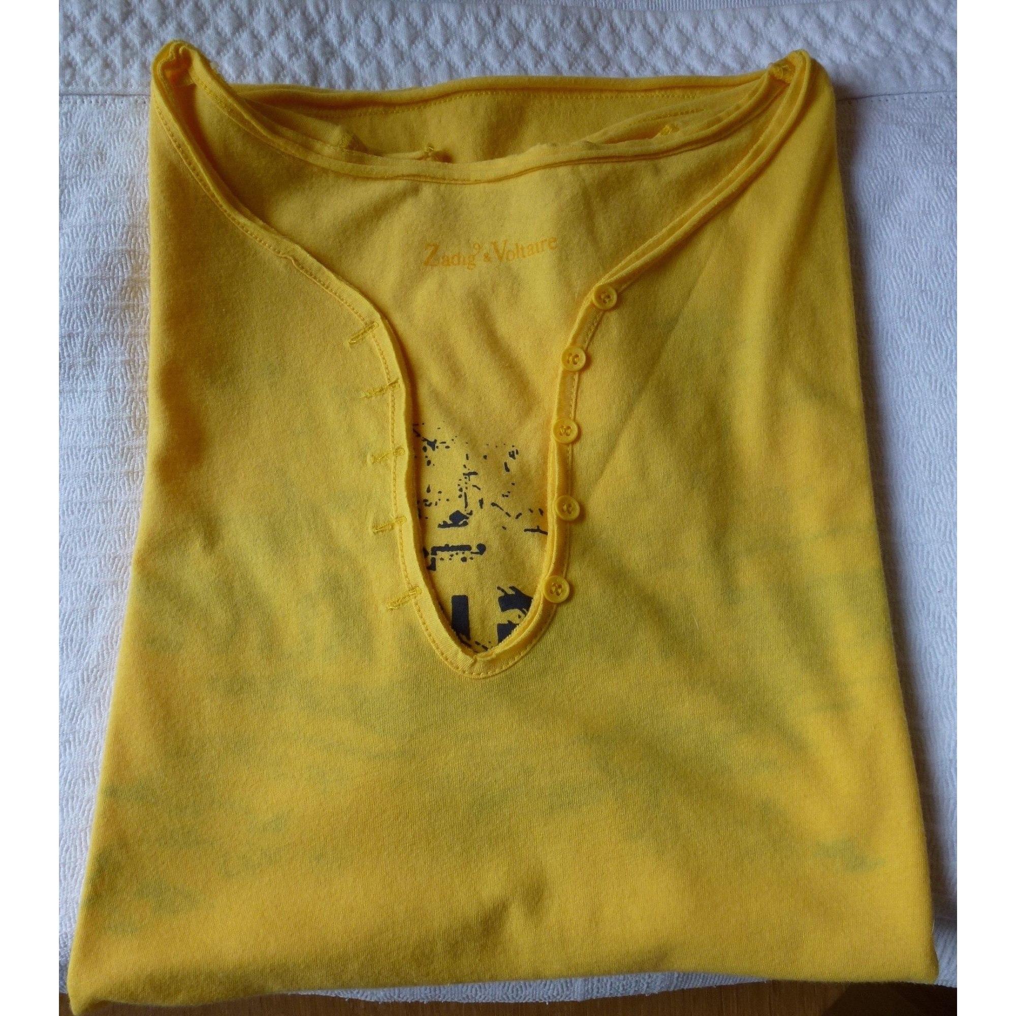 Top, tee-shirt ZADIG & VOLTAIRE Jaune