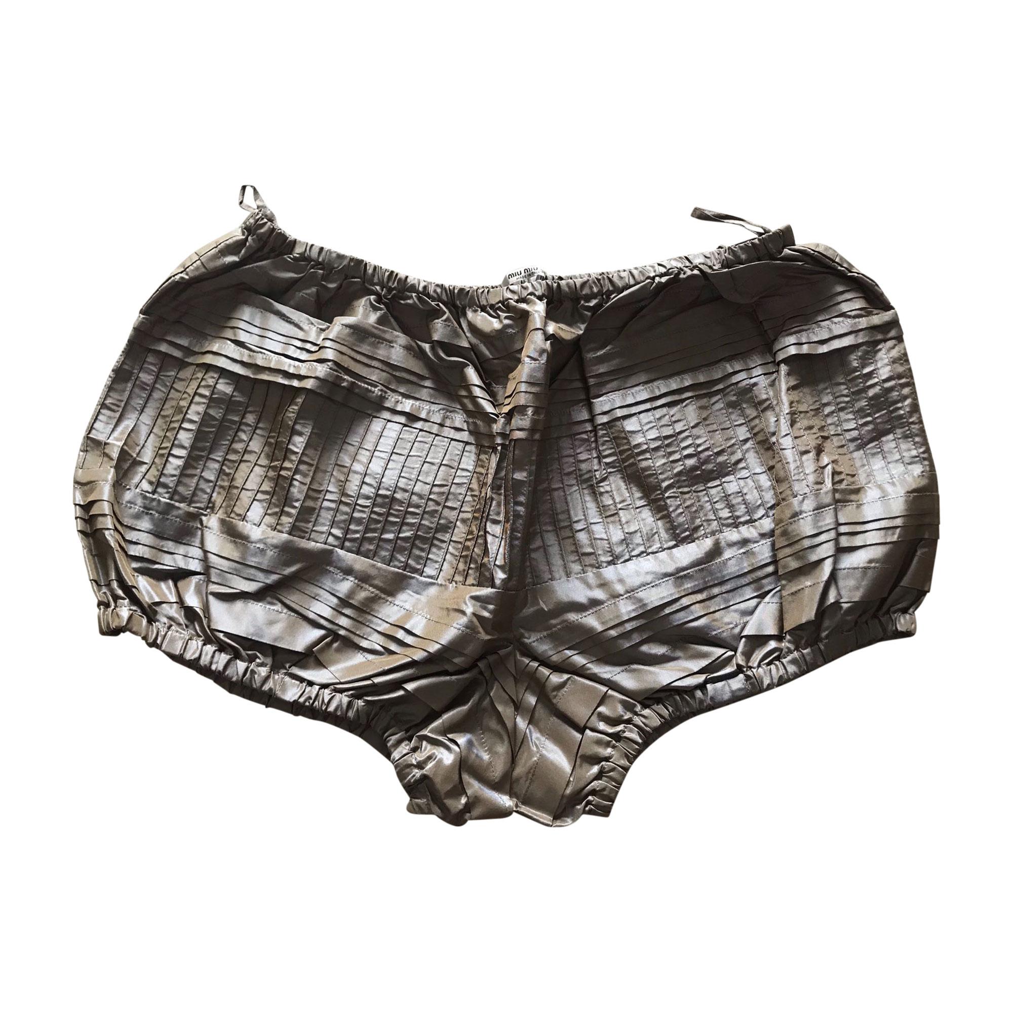 Short MIU MIU Doré, bronze, cuivre
