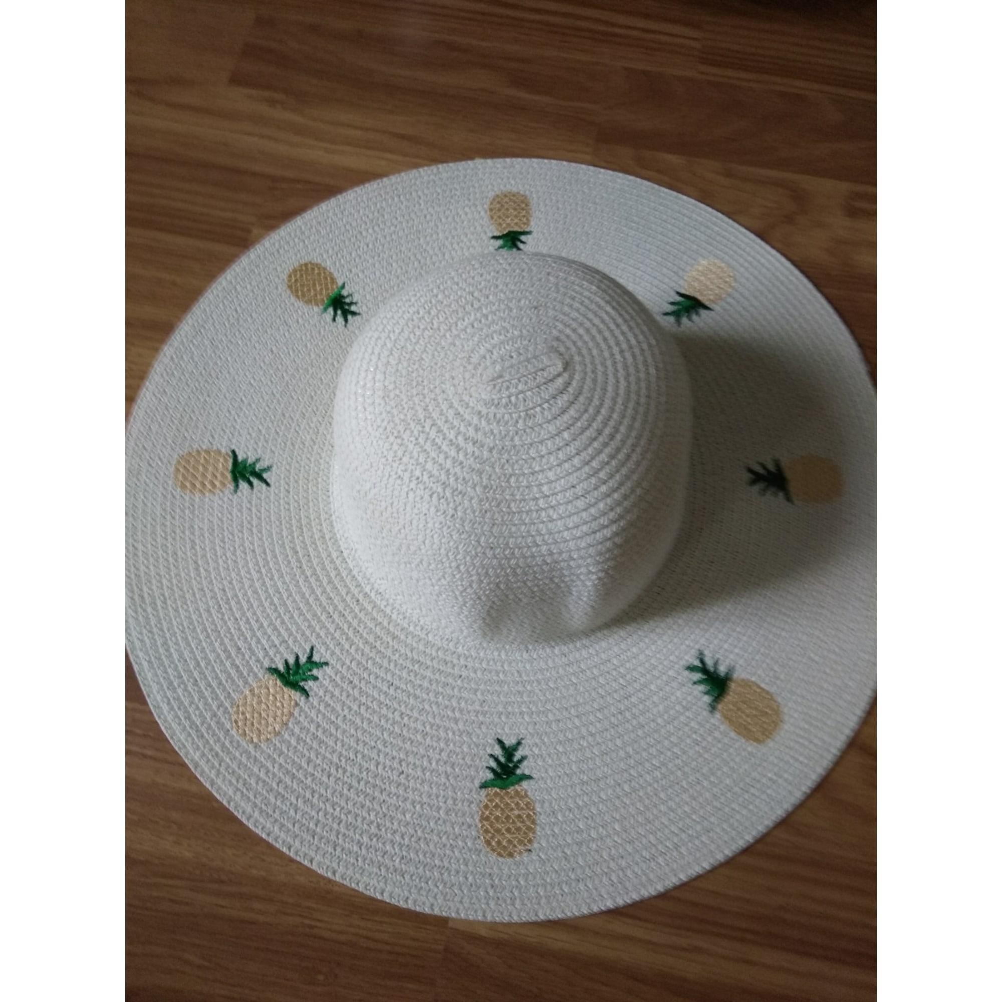 Chapeau MARQUE INCONNUE Blanc, blanc cassé, écru