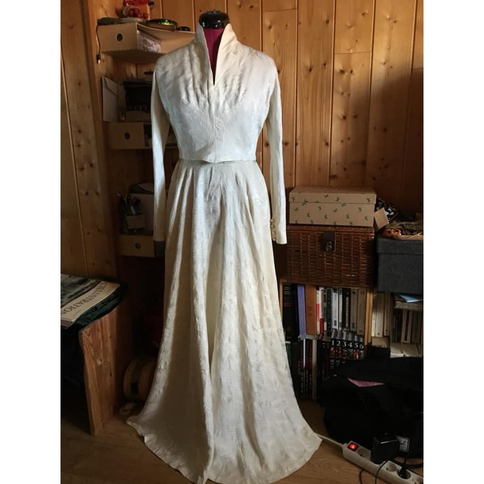 Robe longue VINTAGE Blanc, blanc cassé, écru