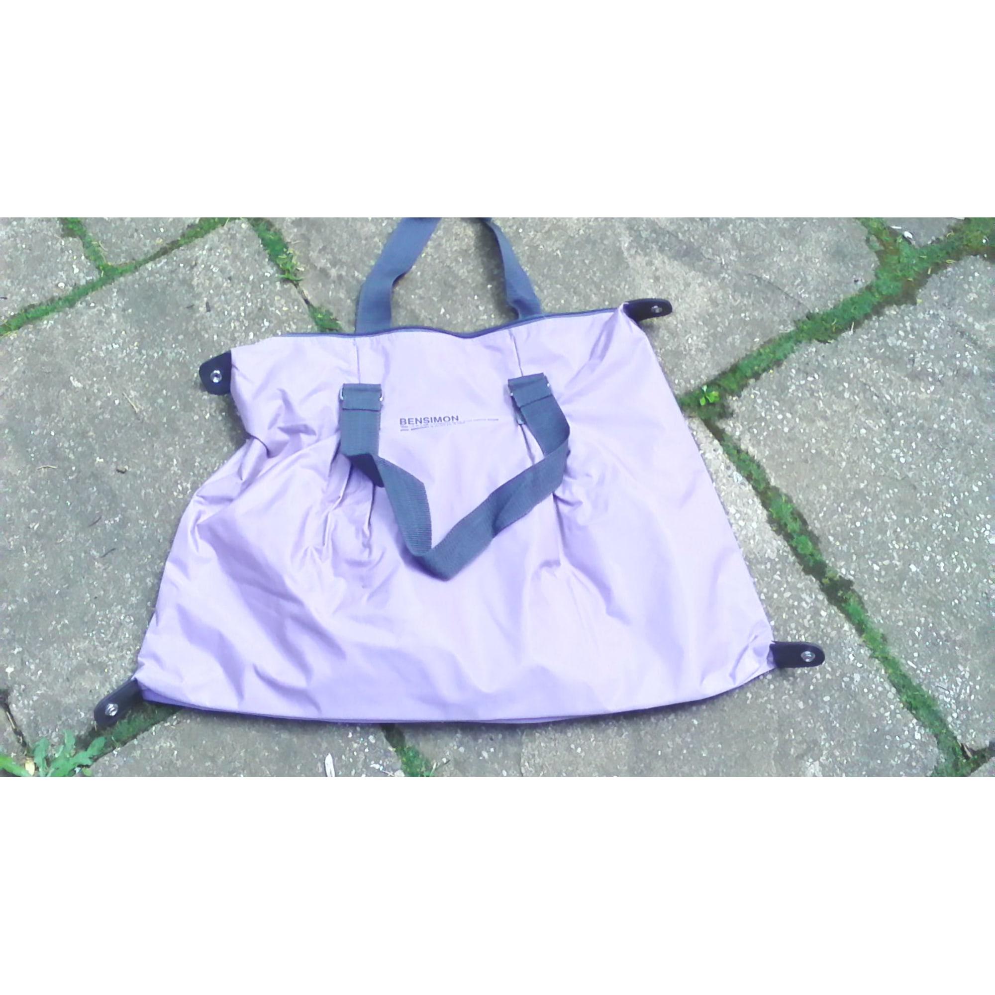 Sac XL en tissu BENSIMON Violet, mauve, lavande