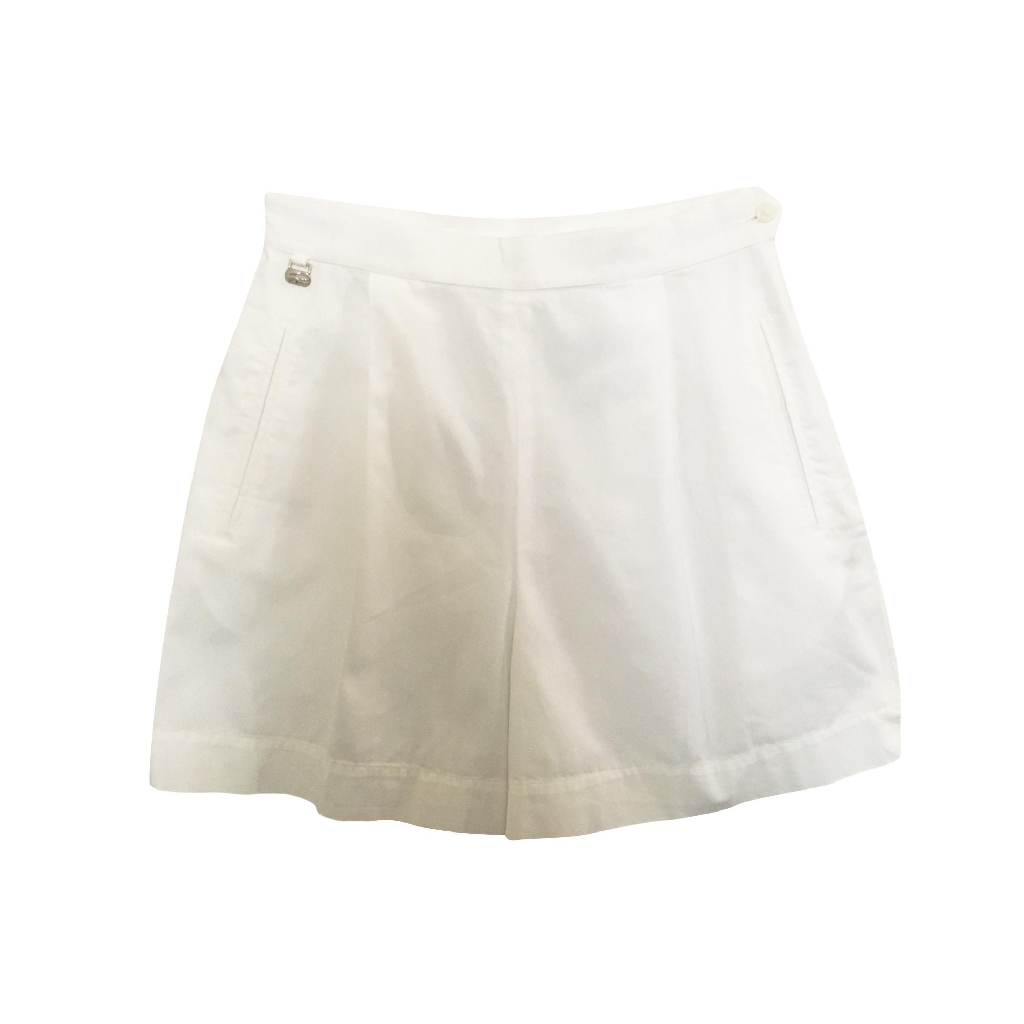 Short LACOSTE Blanc, blanc cassé, écru
