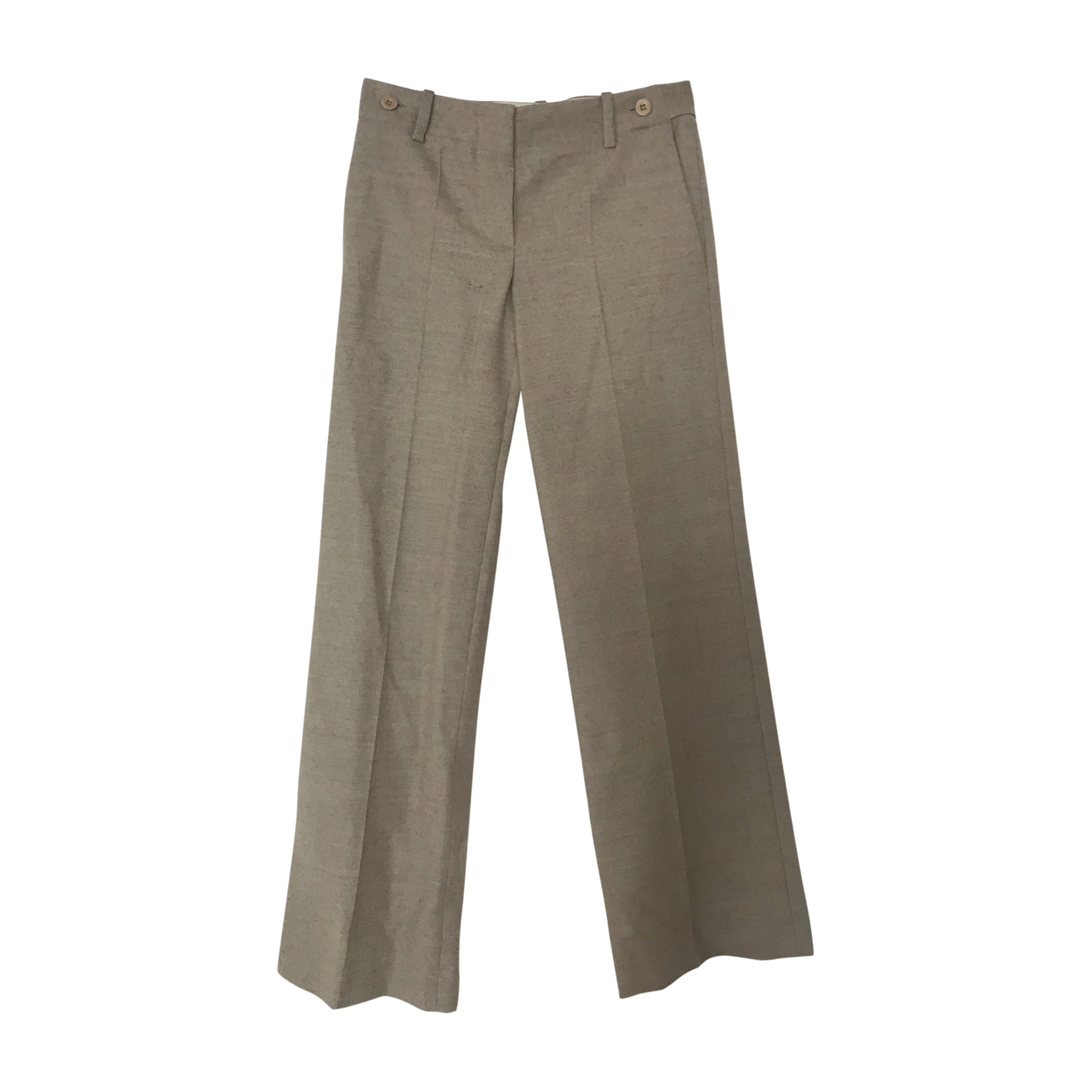 Pantalon droit CHLOÉ Gris/vert