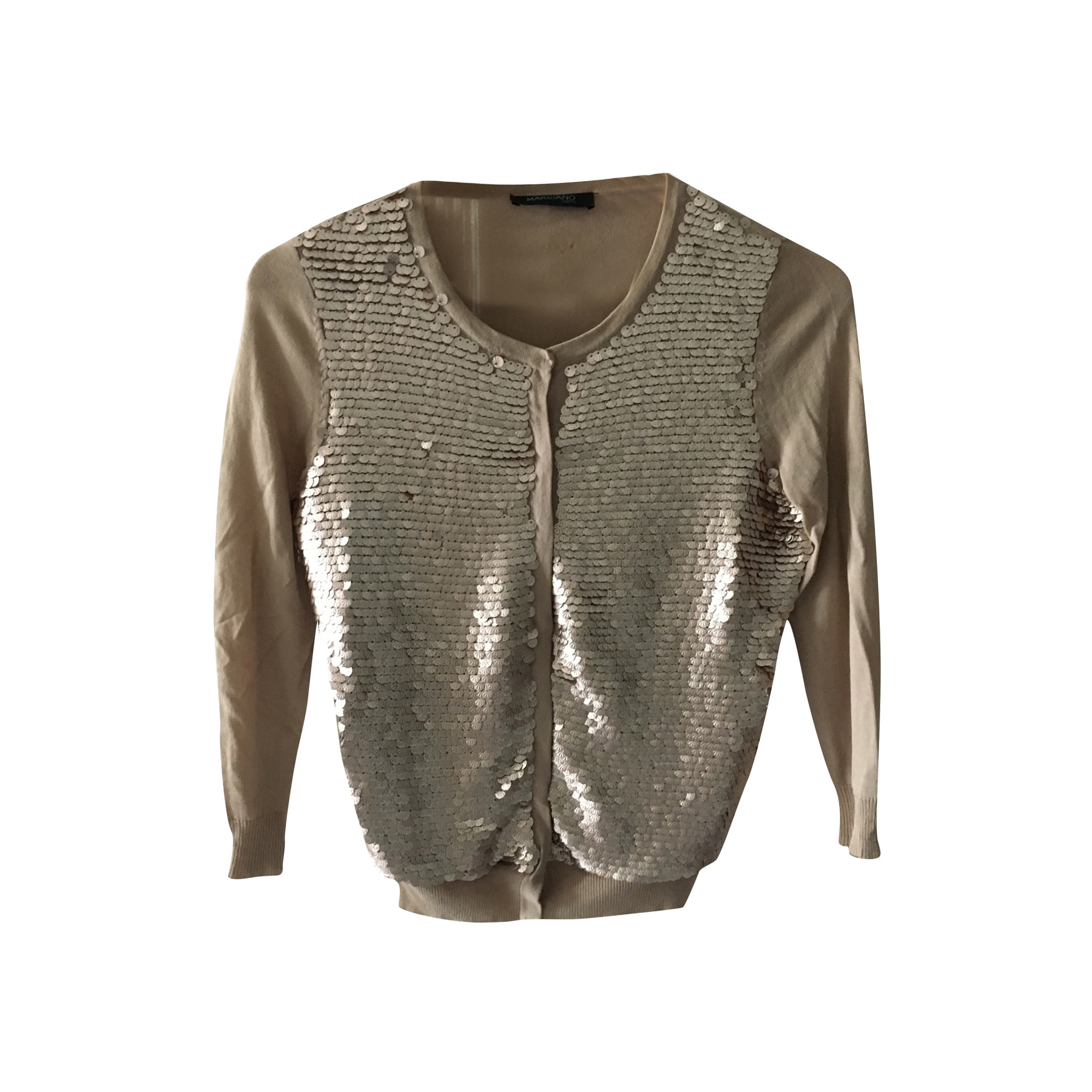 Gilet, cardigan GUESS Doré, bronze, cuivre