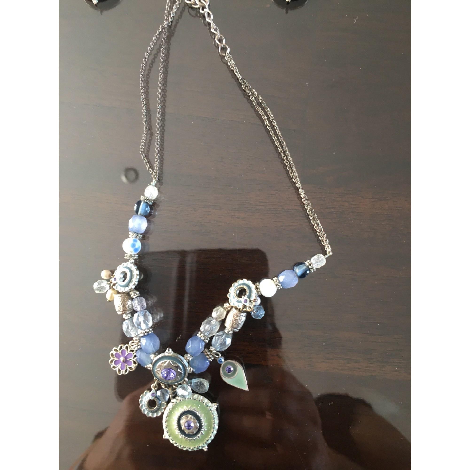 Parure bijoux IKITA Bleu, bleu marine, bleu turquoise