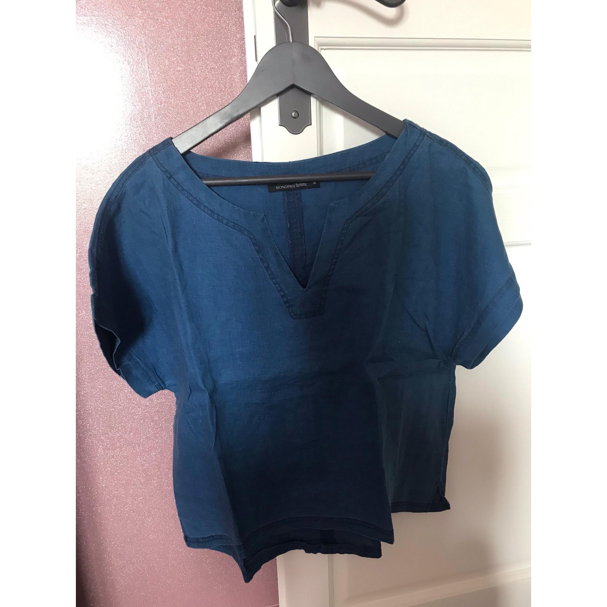 Blouse MONOPRIX Bleu, bleu marine, bleu turquoise