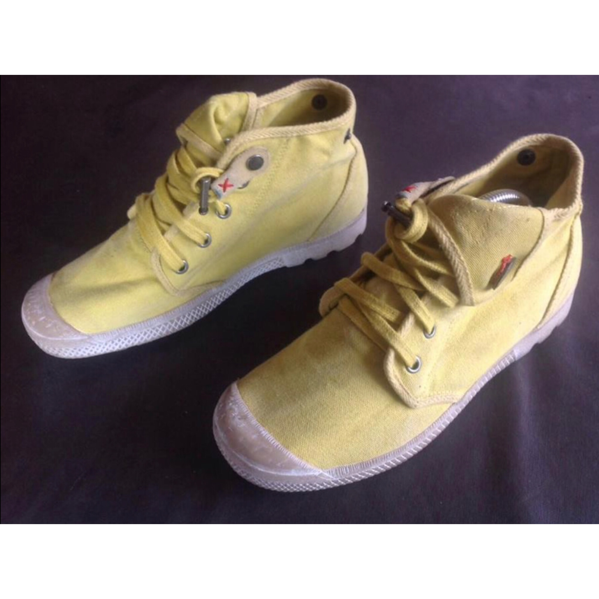 Chaussures à lacets  PALLADIUM Jaune