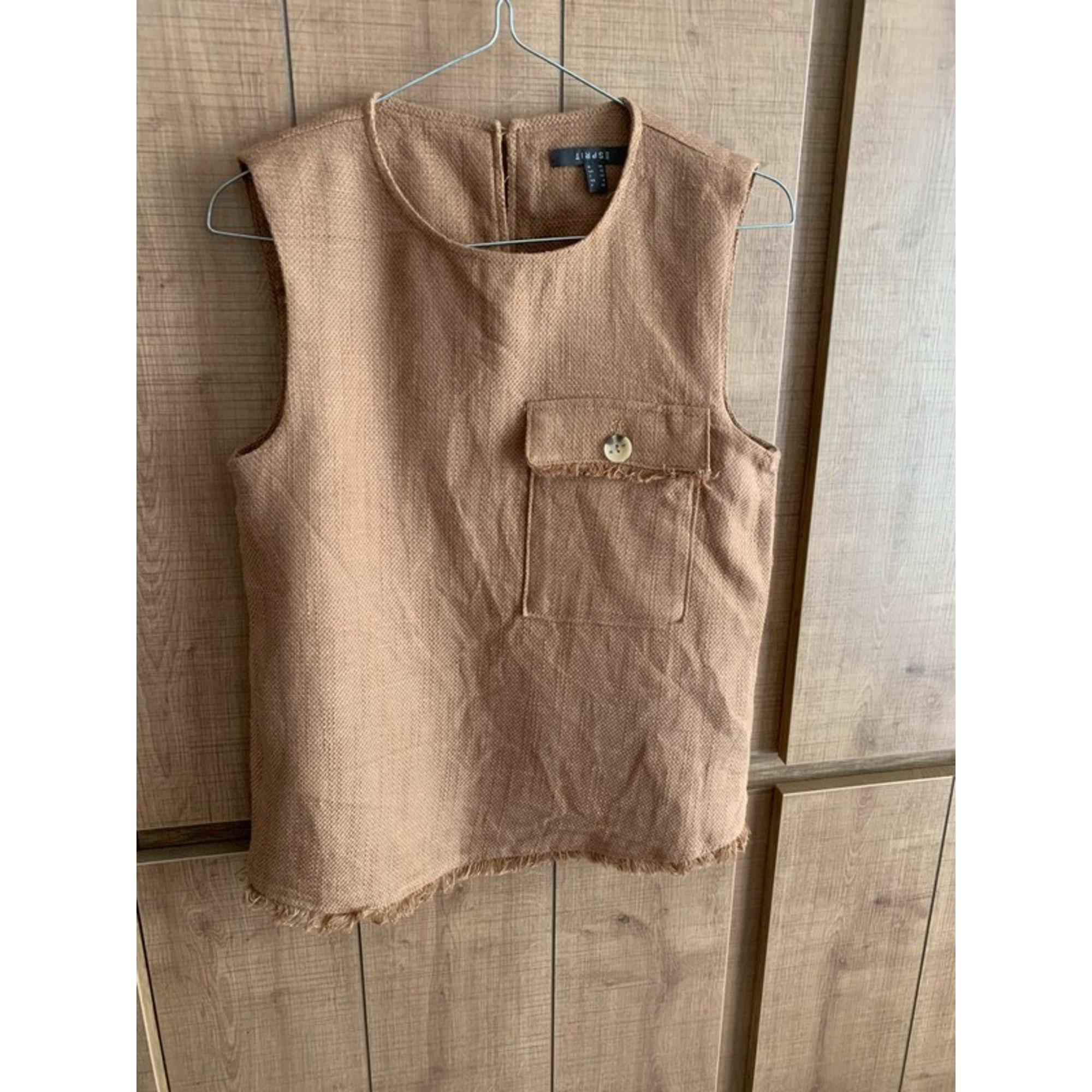 Top, tee-shirt ESPRIT Beige, camel