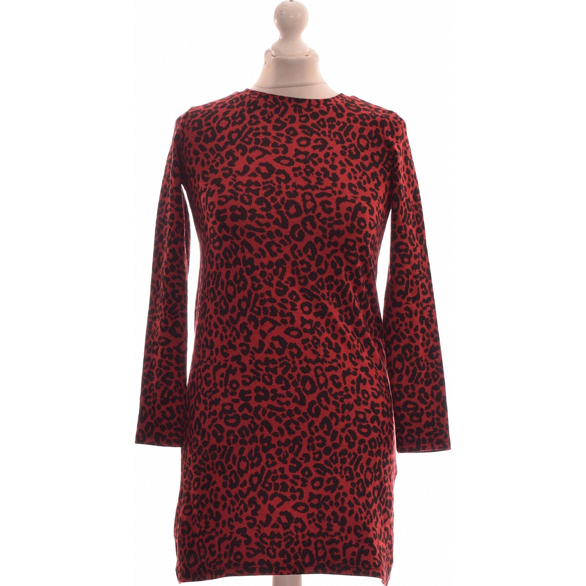 Robe courte PULL & BEAR Rouge, bordeaux