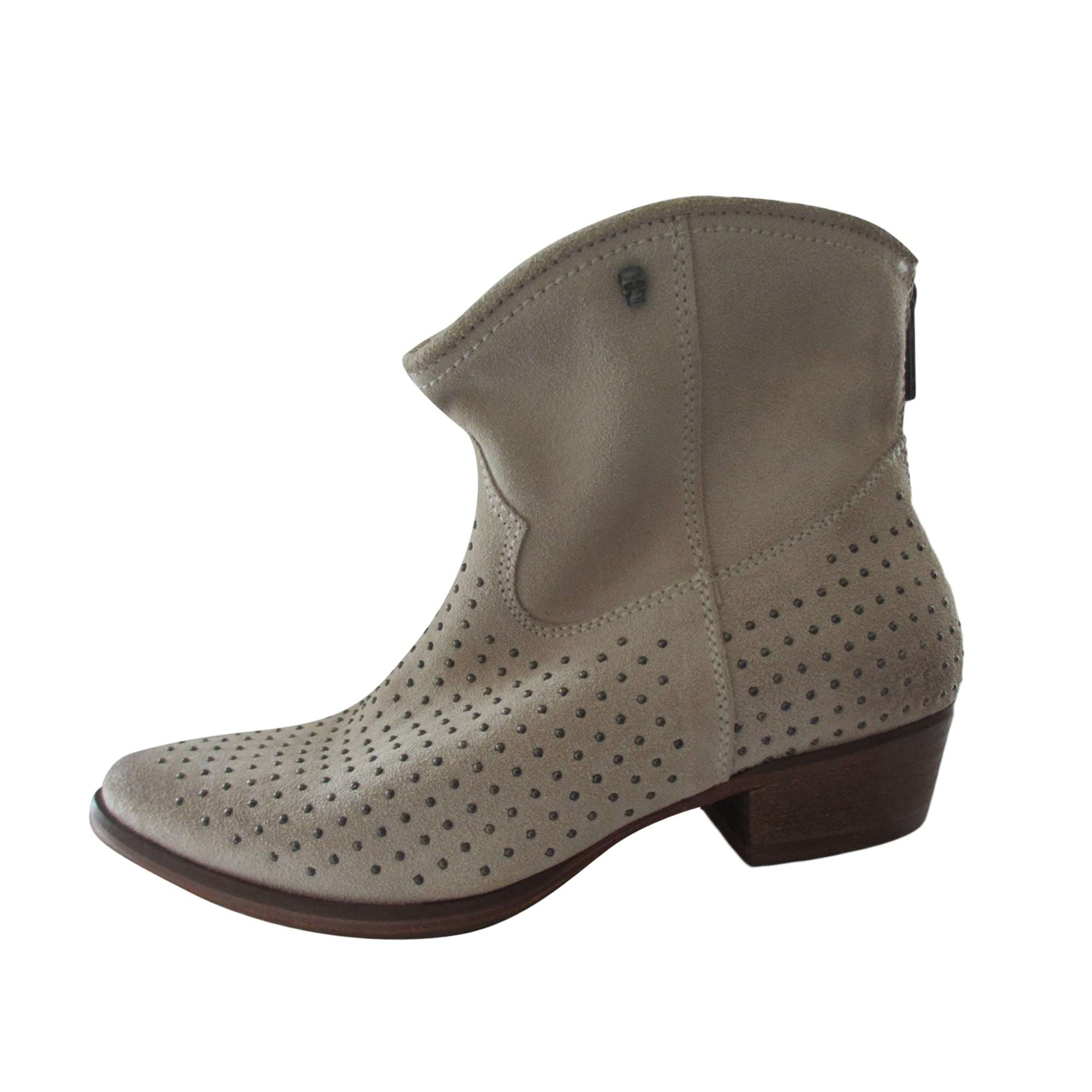 Bottines & low boots à talons IKKS Blanc, blanc cassé, écru