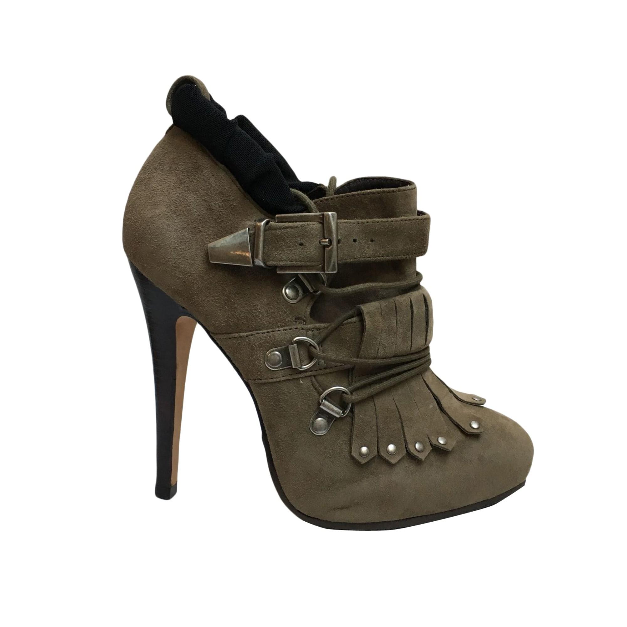 High Heel Ankle Boots COSMOPARIS Khaki