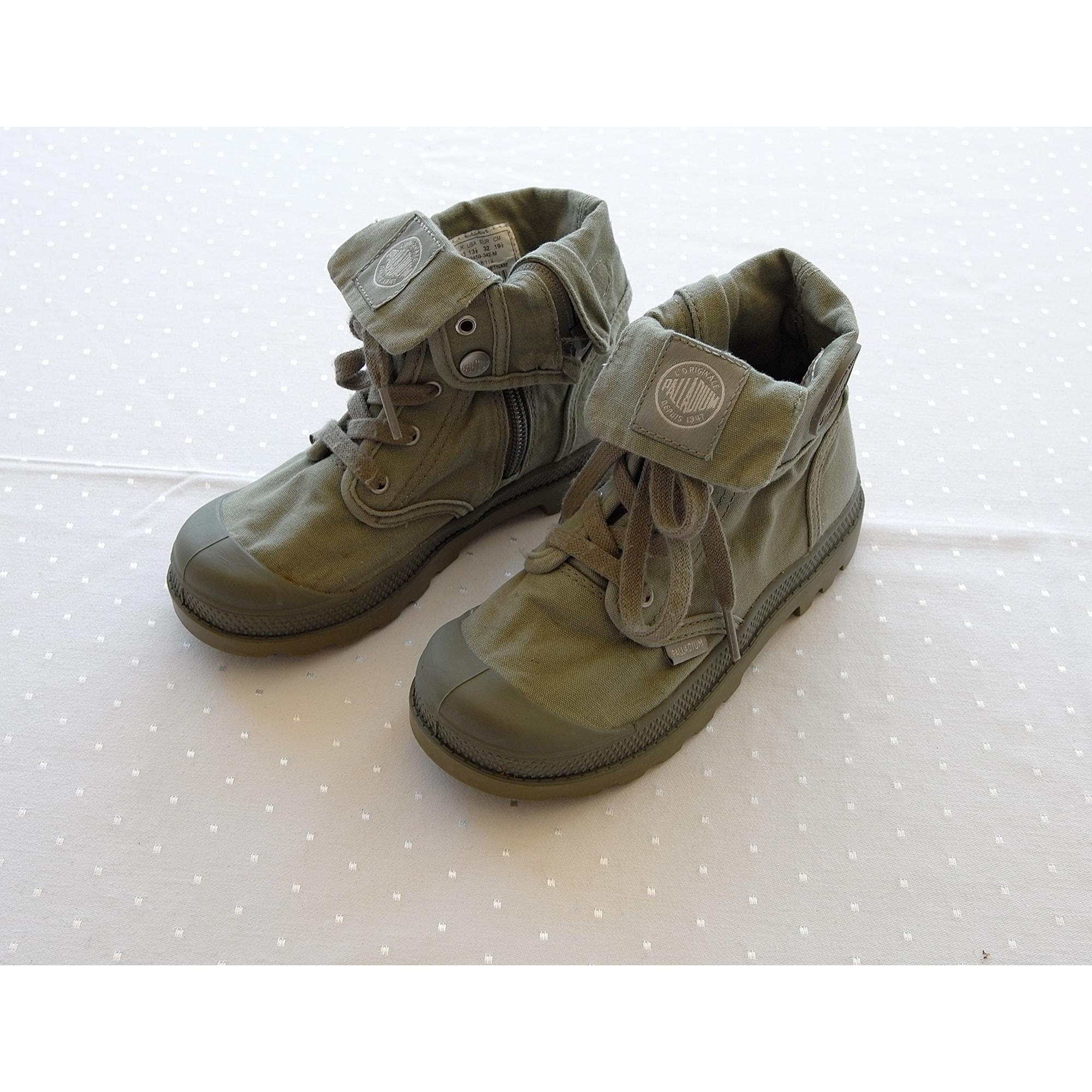 Lace Up Shoes PALLADIUM Khaki