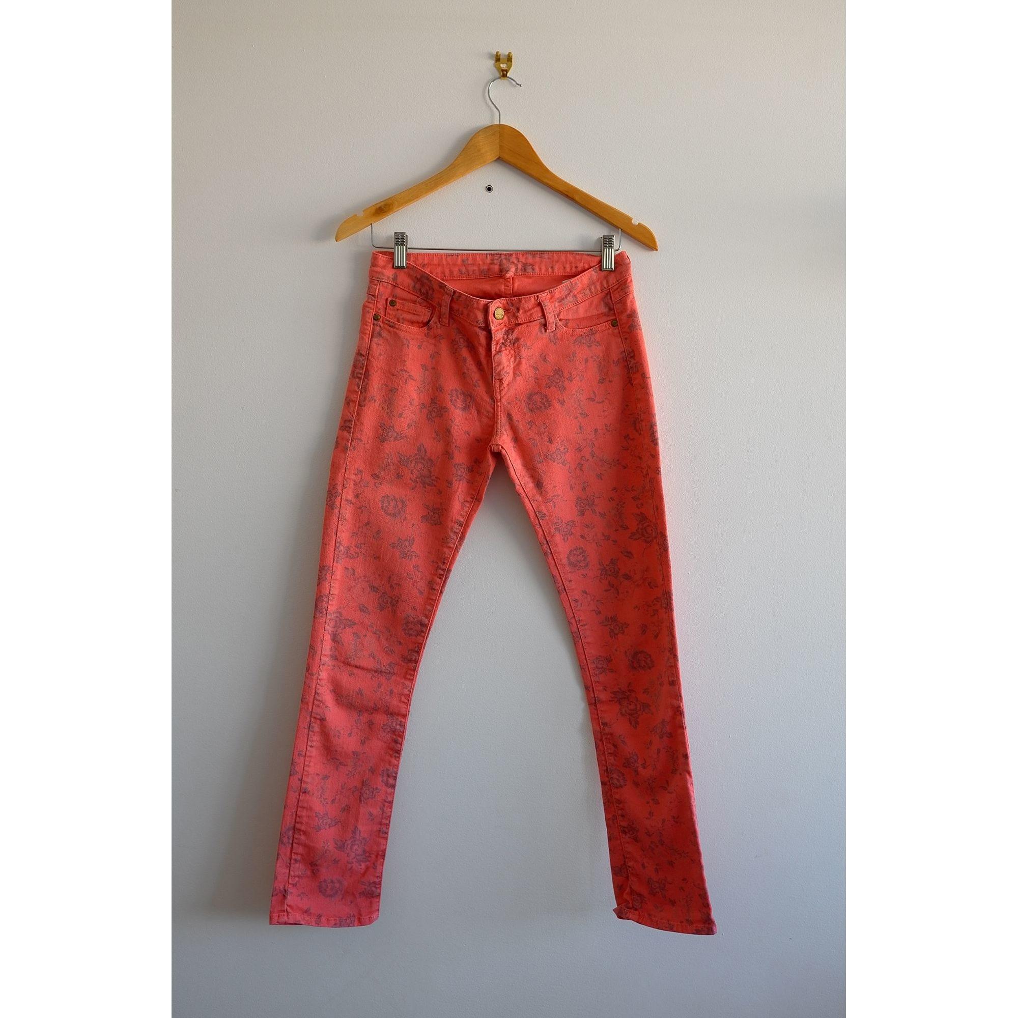 Jeans droit ACQUAVERDE Rose, fuschia, vieux rose