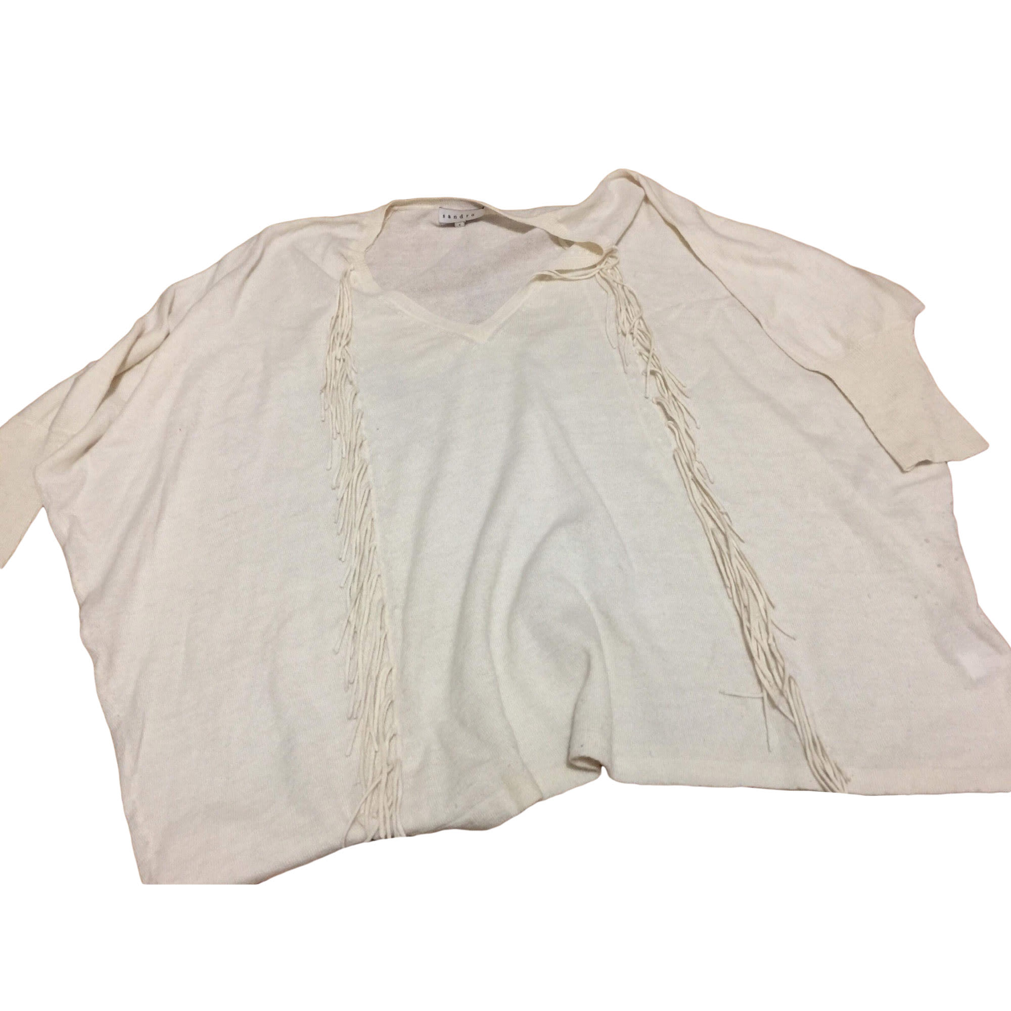 Pull tunique MAJE Blanc, blanc cassé, écru