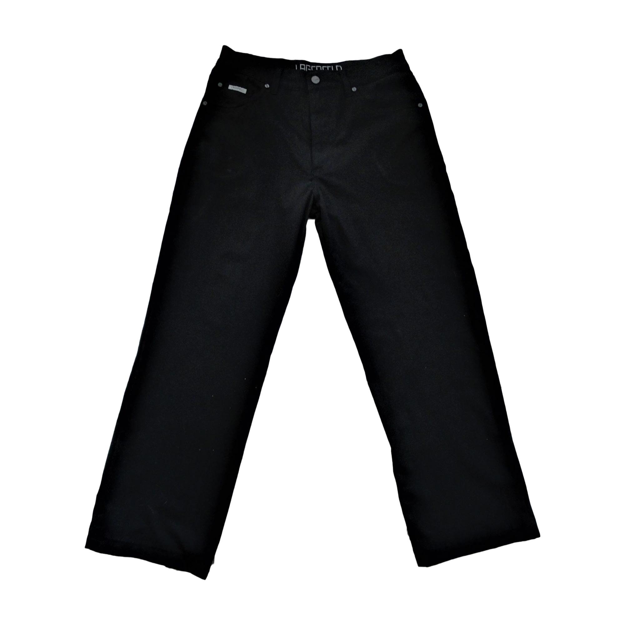 Pantalon droit KARL LAGERFELD Noir