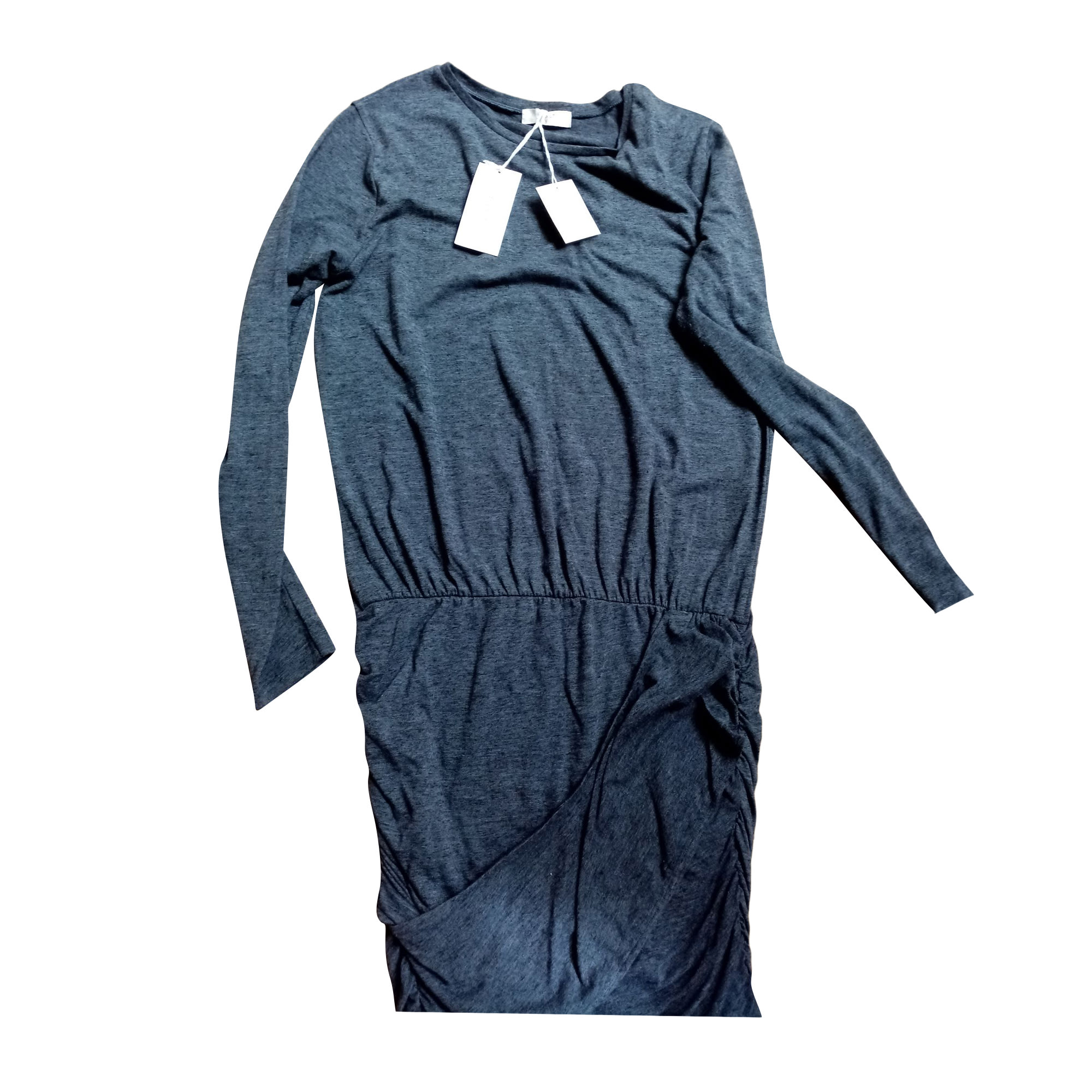 Robe mi-longue BA&SH Gris, anthracite
