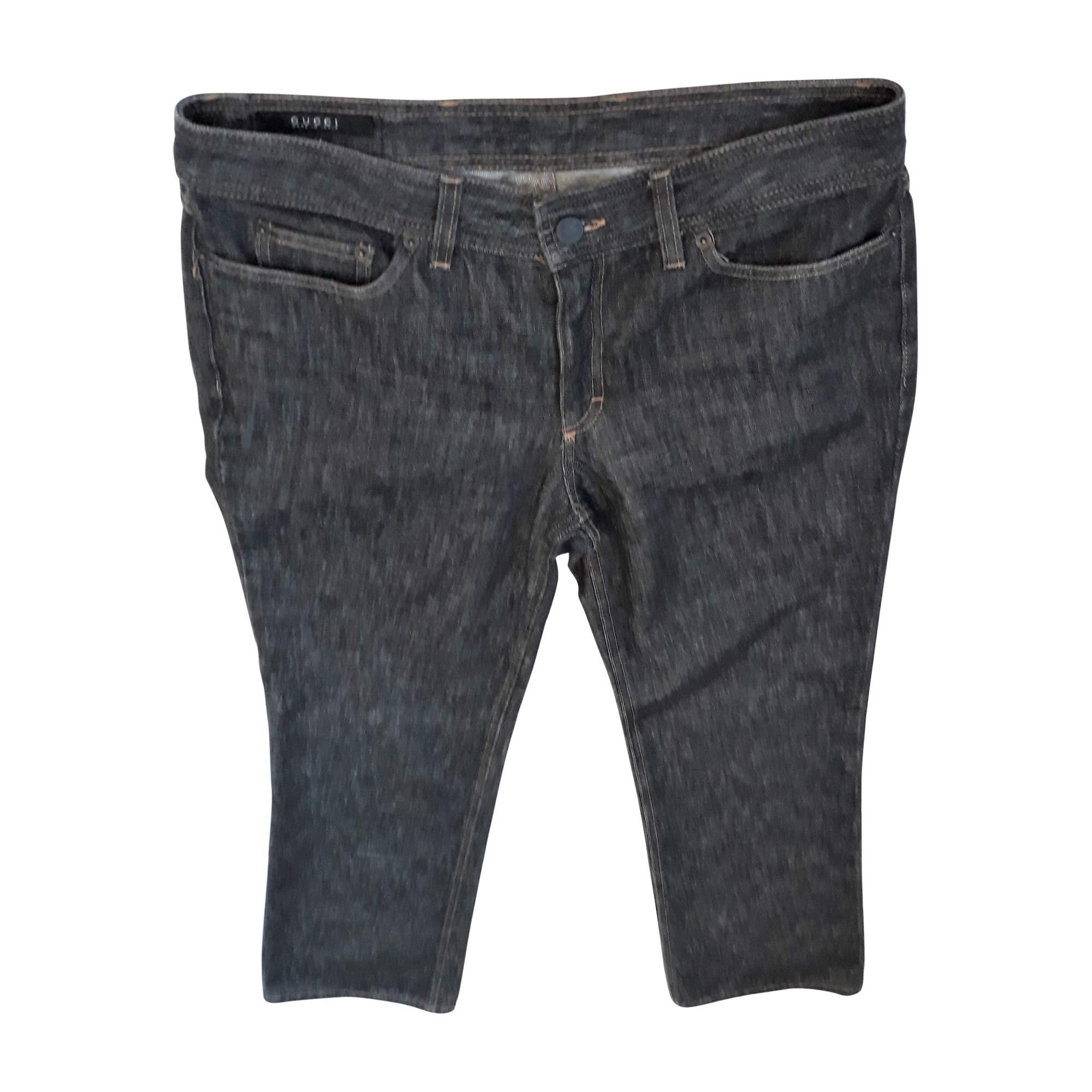 Jeans droit GUCCI Gris, anthracite