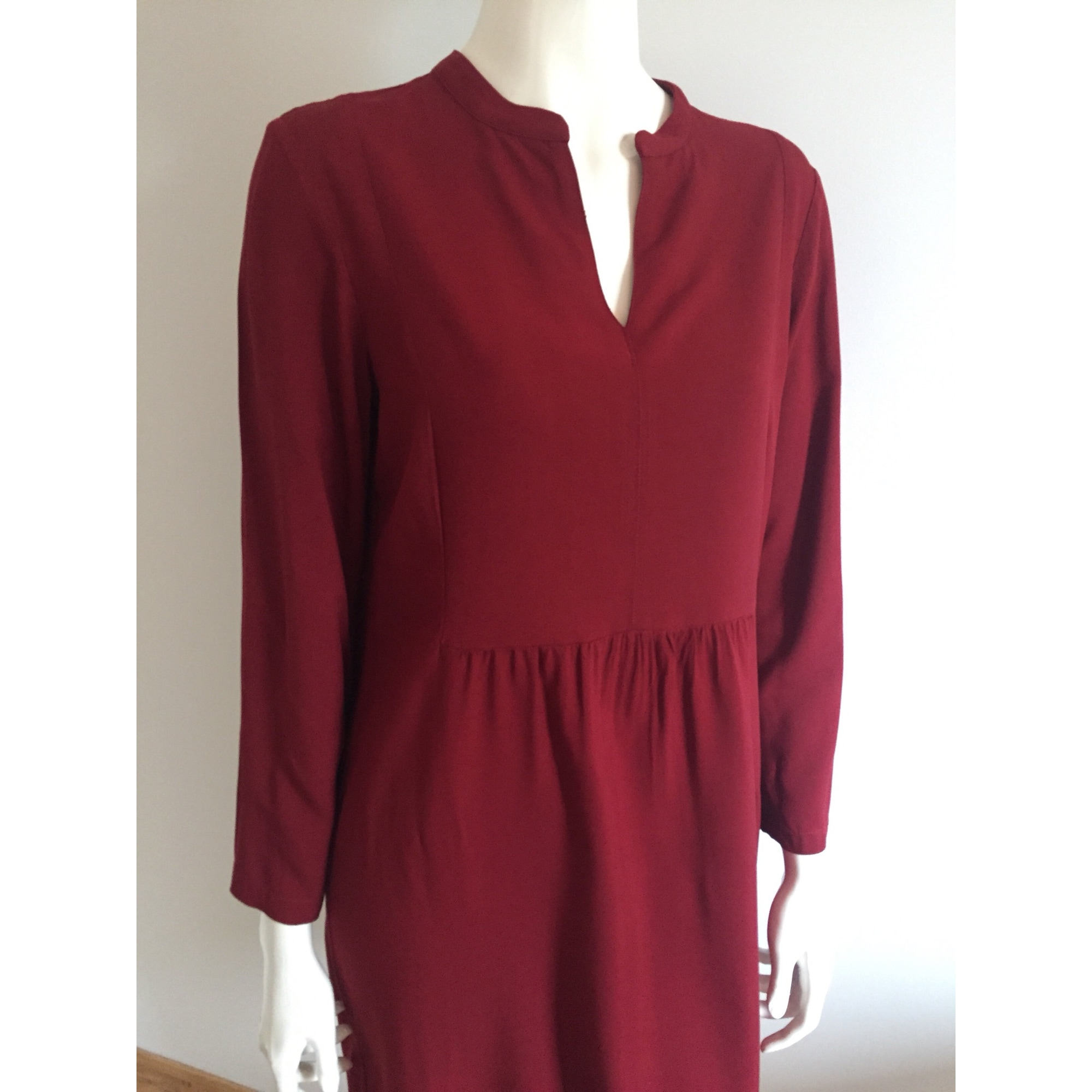Robe courte NICE THINGS Rouge, bordeaux
