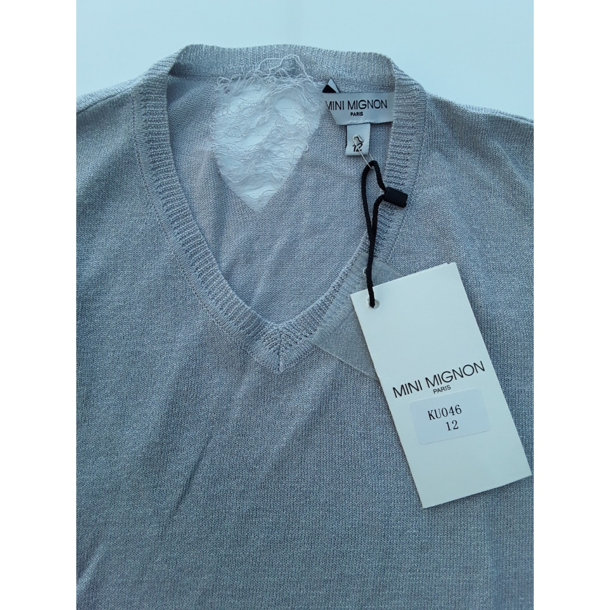 Top, Tee-shirt MINI MIGNON Gris, anthracite
