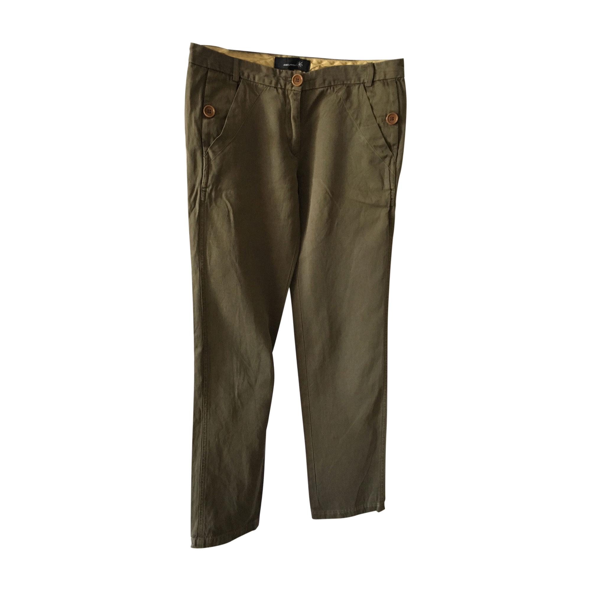 Pantalon droit ISABEL MARANT Kaki