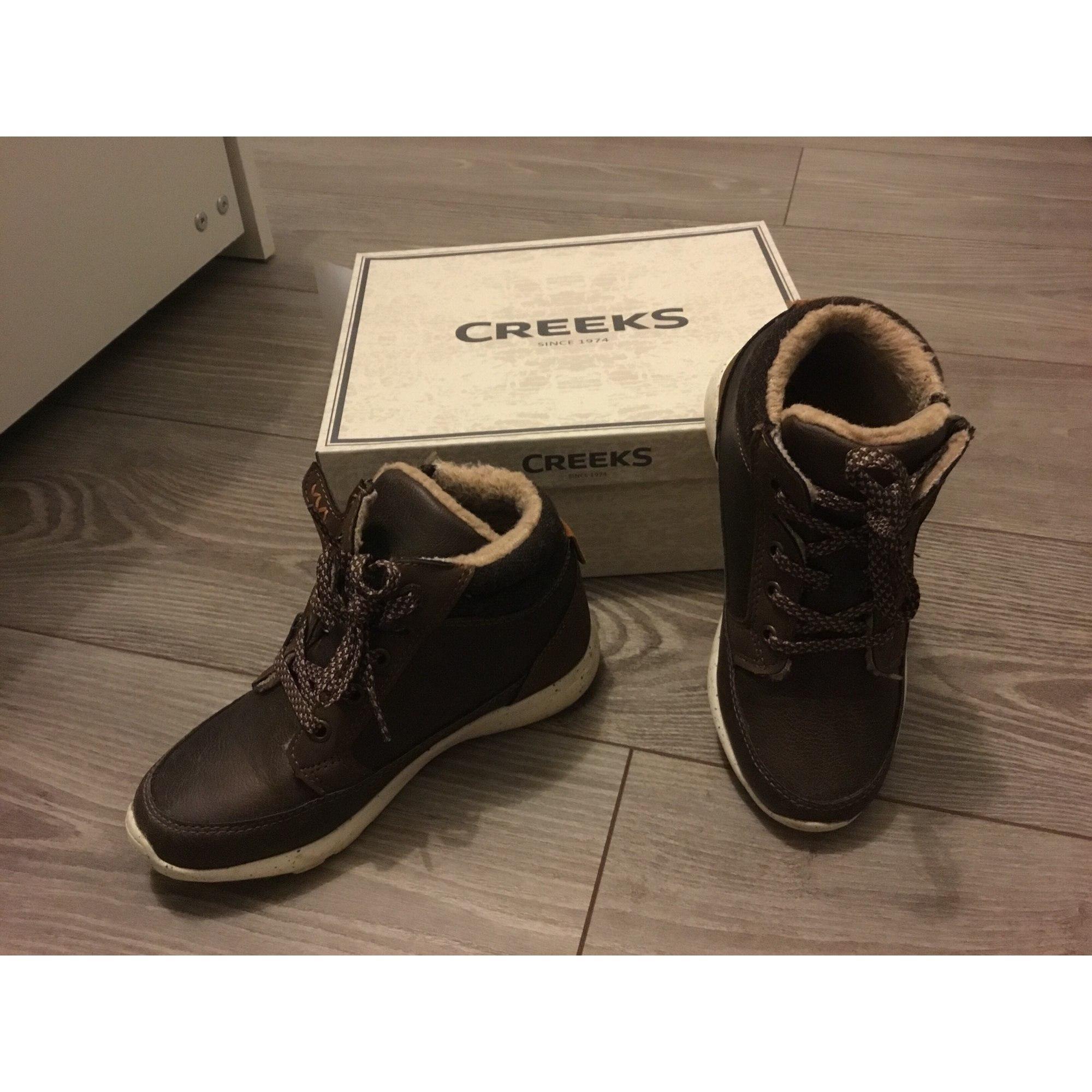 Chaussures à lacets CREEKS Marron