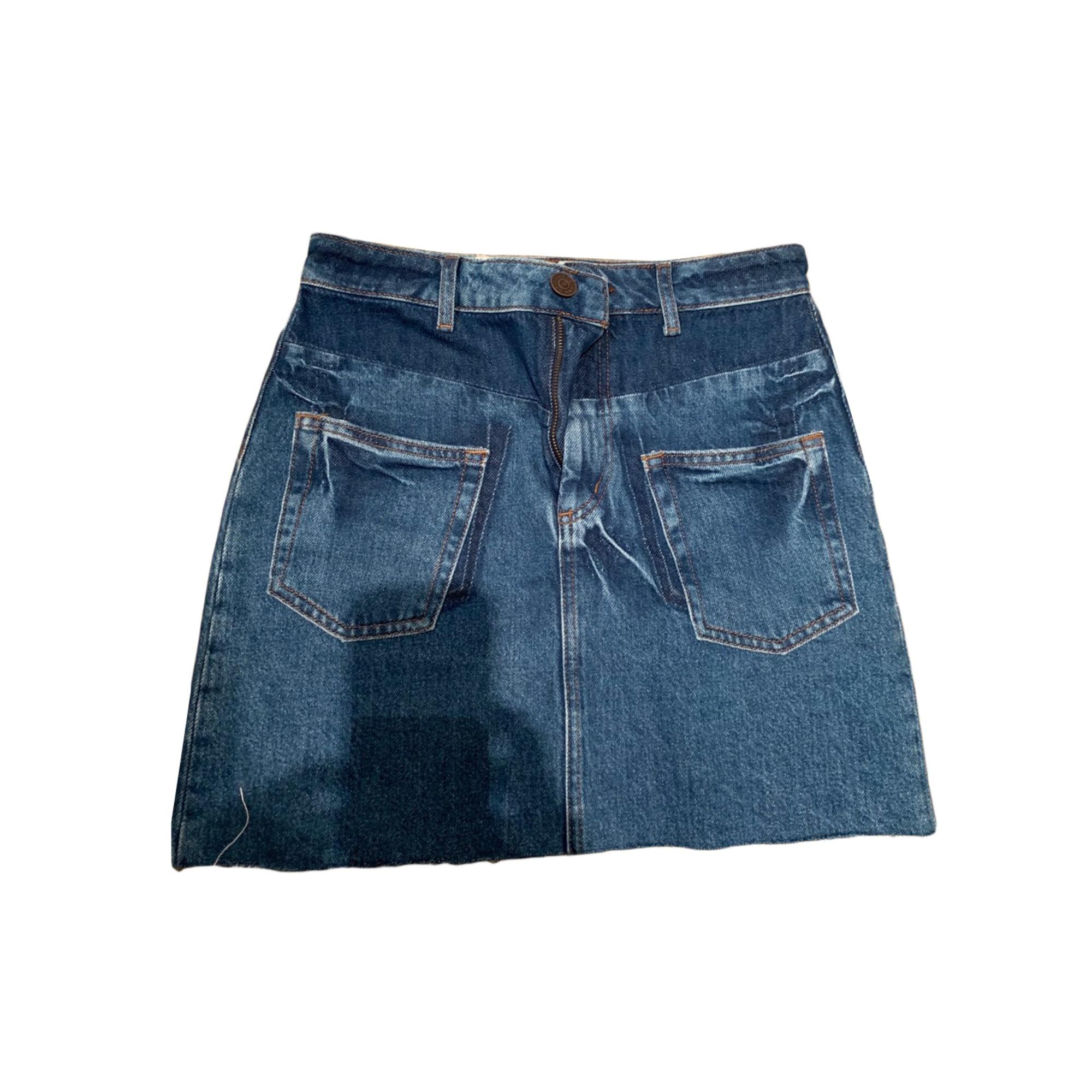 Jupe en jean SANDRO Bleu, bleu marine, bleu turquoise
