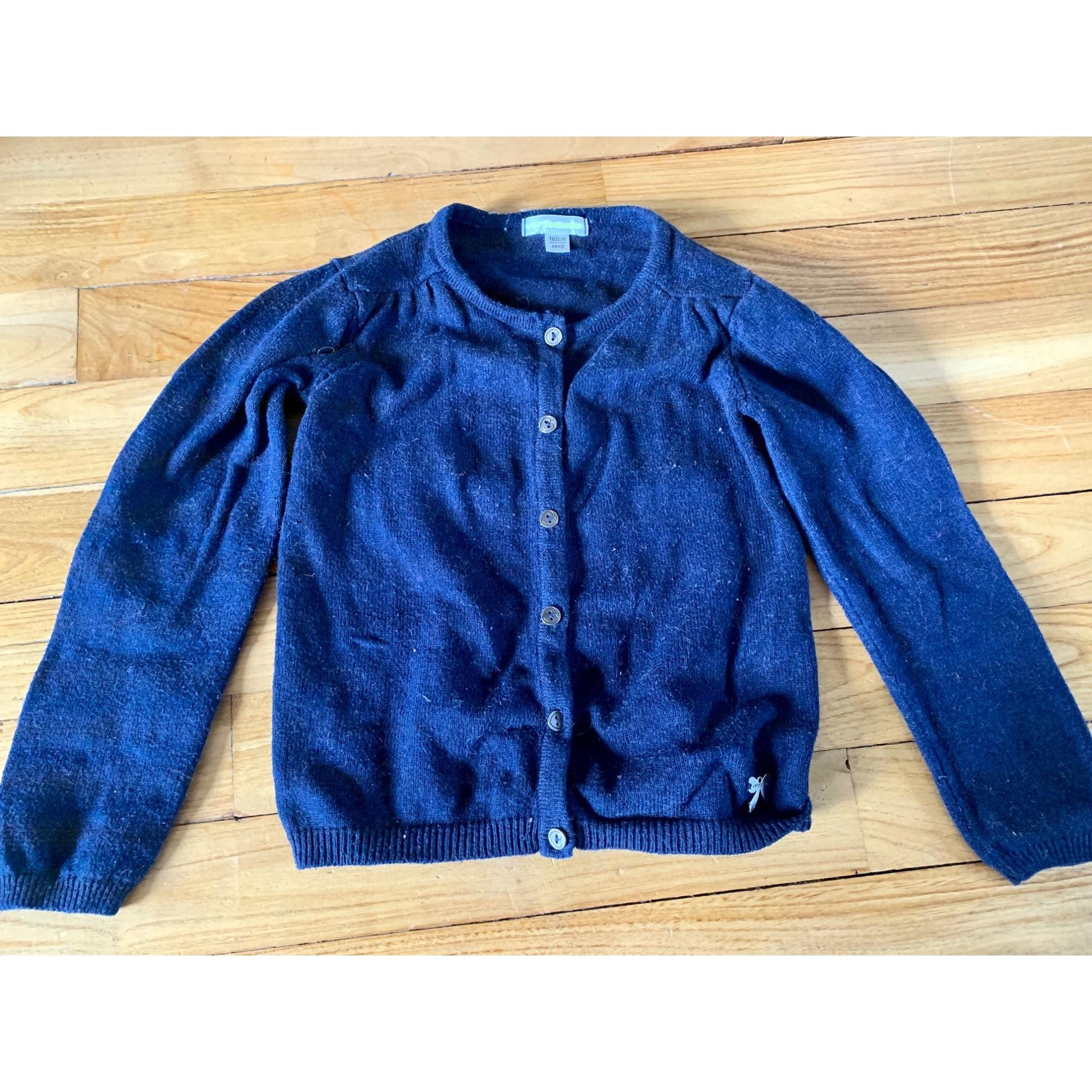 Gilet, cardigan VERTBAUDET Bleu, bleu marine, bleu turquoise