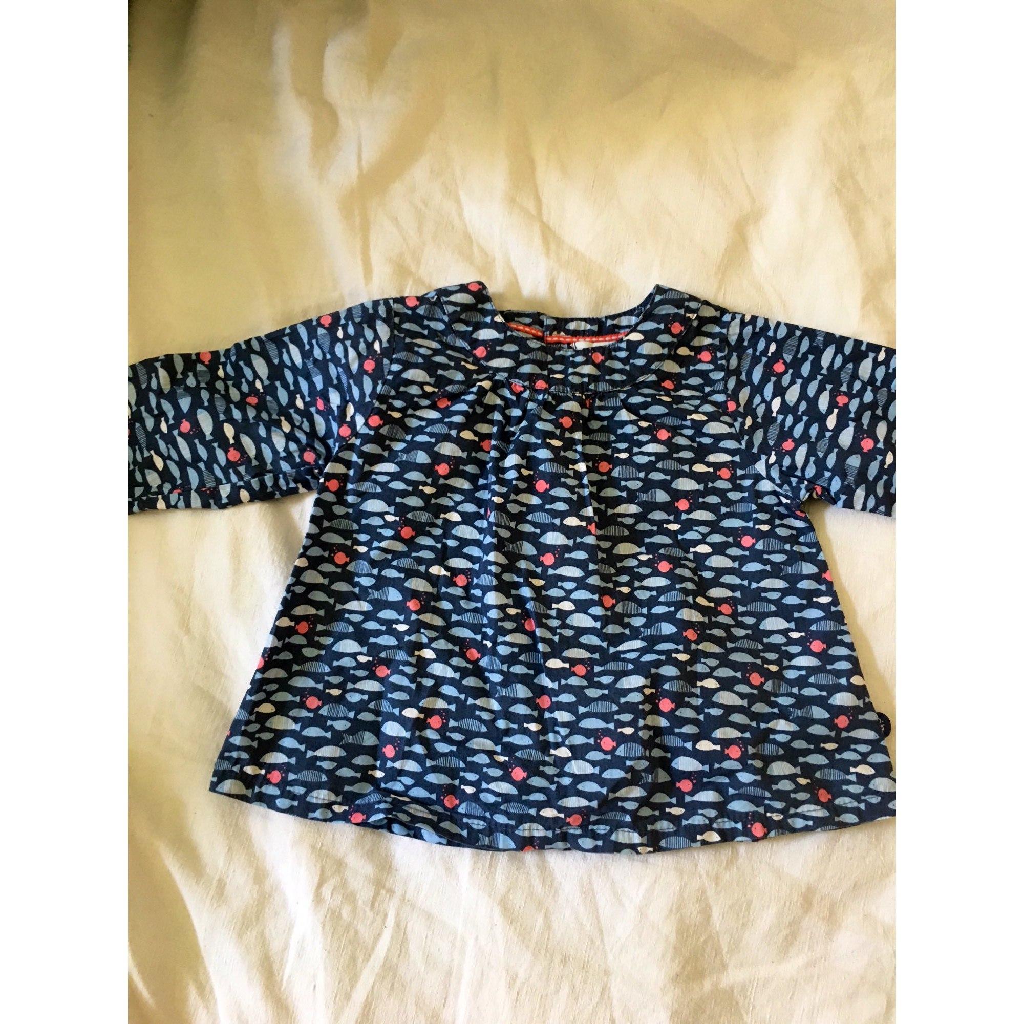 Blouse, Short-sleeved Shirt OBAIBI Blue, navy, turquoise