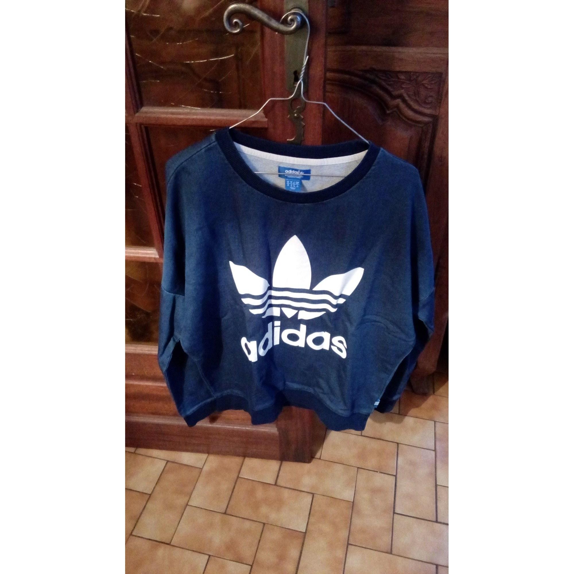 Sweat ADIDAS Bleu, bleu marine, bleu turquoise