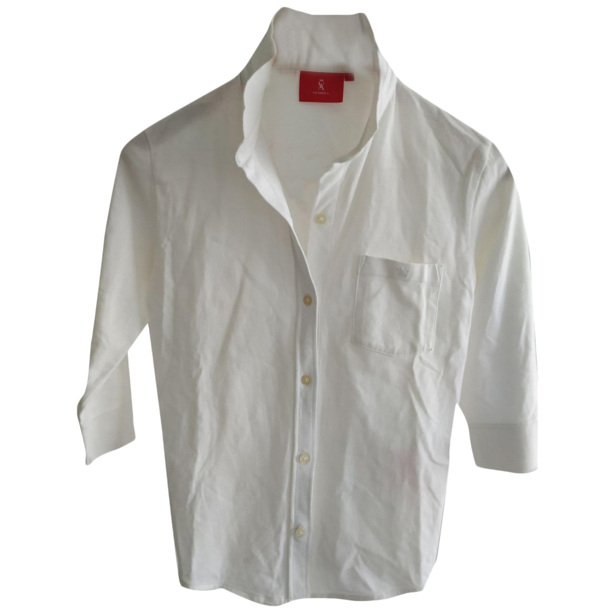 Chemise VICOMTE A. Blanc, blanc cassé, écru