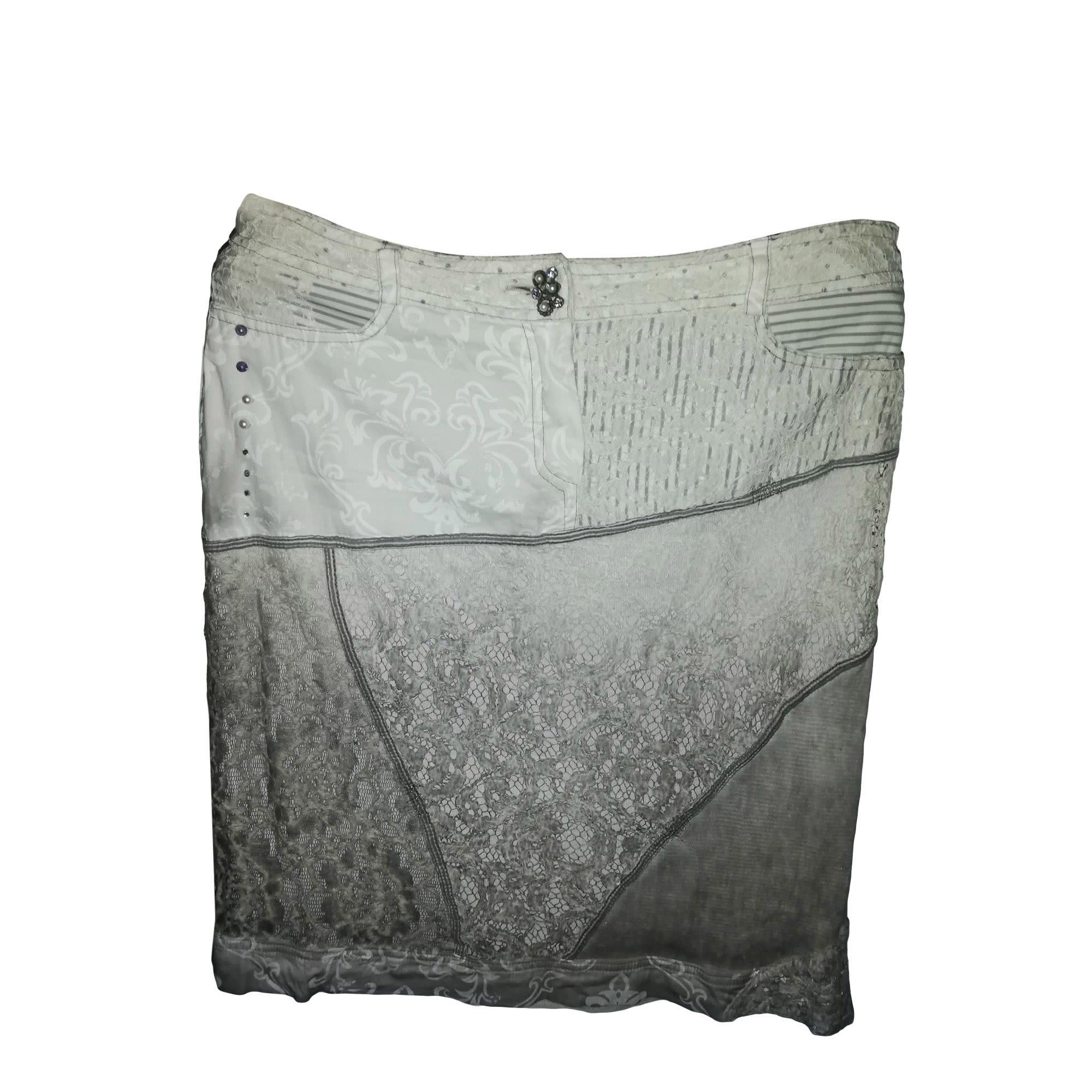 Jupe mi-longue ELISA CAVALETTI Blanc, blanc cassé, écru