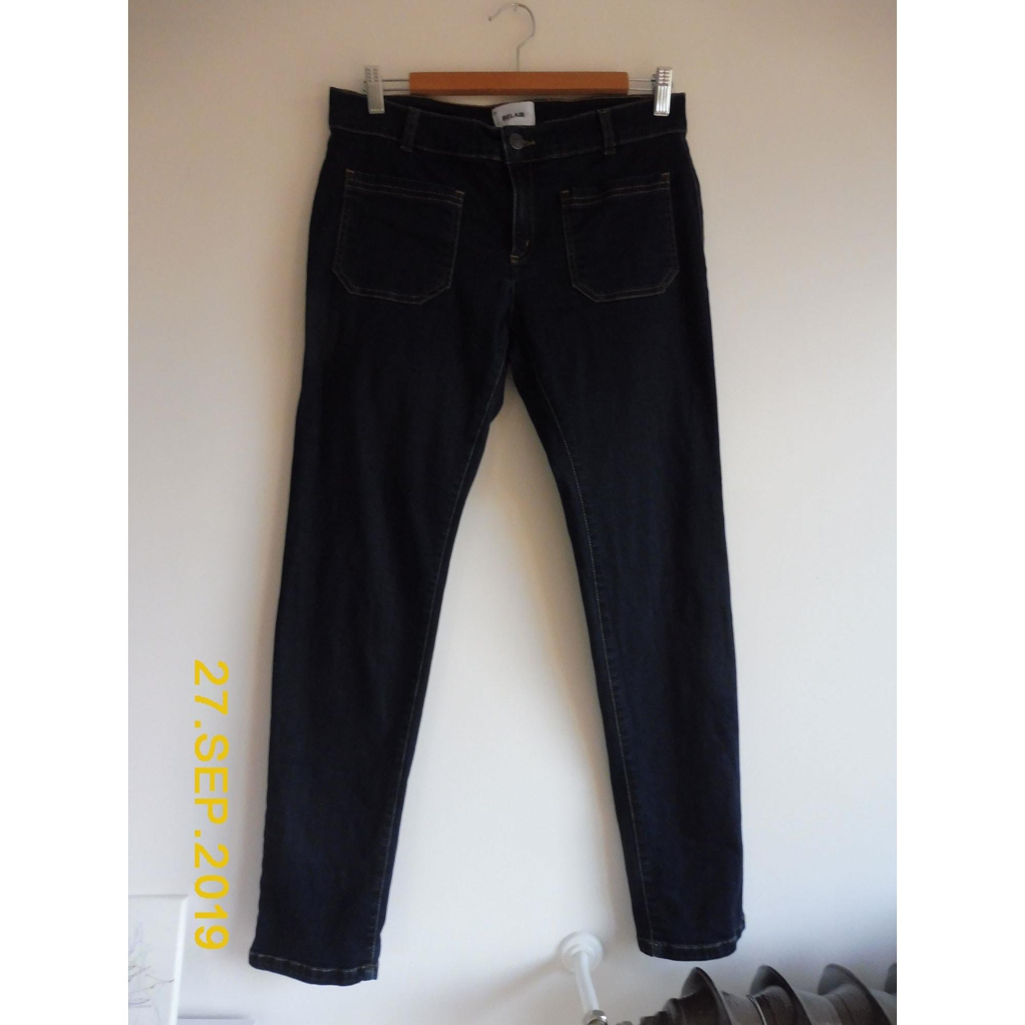 Jeans slim BEL AIR Bleu, bleu marine, bleu turquoise