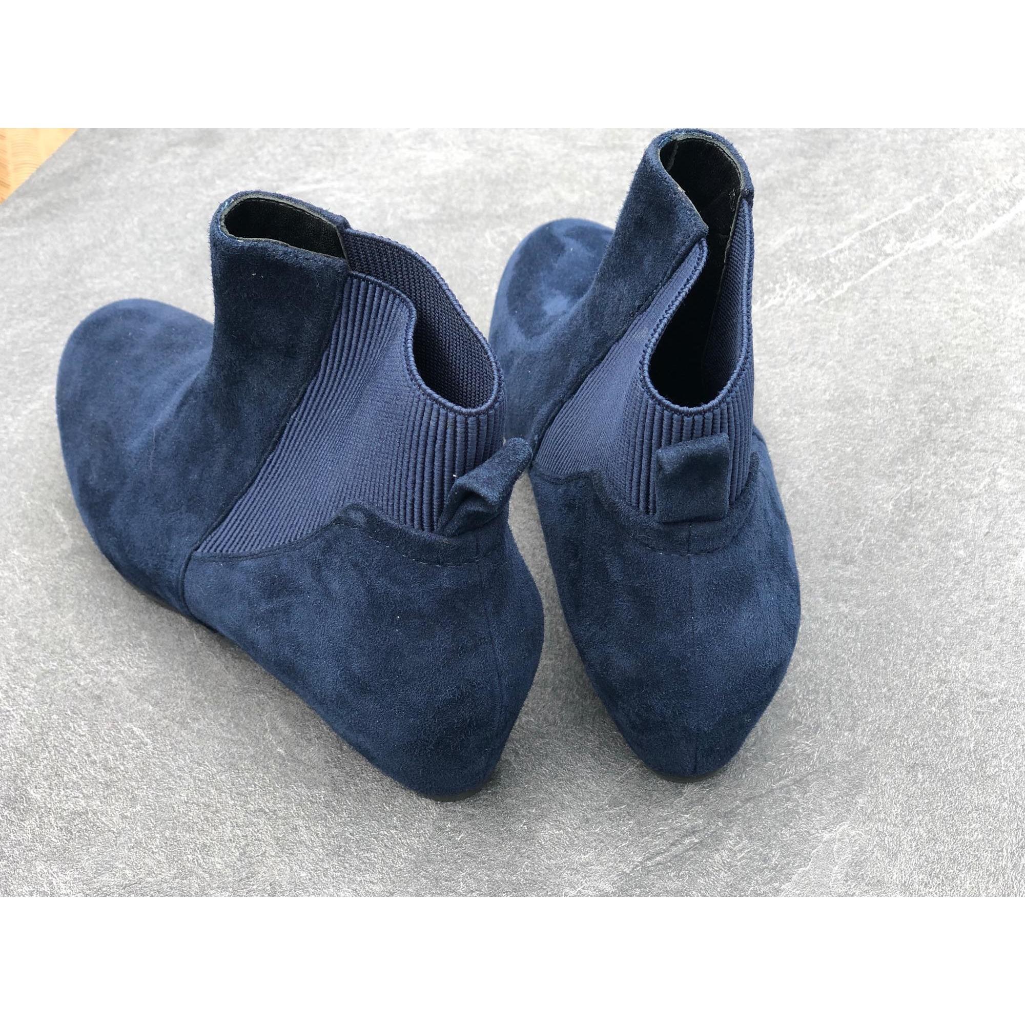 Bottines & low boots à compensés JB MARTIN Bleu, bleu marine, bleu turquoise