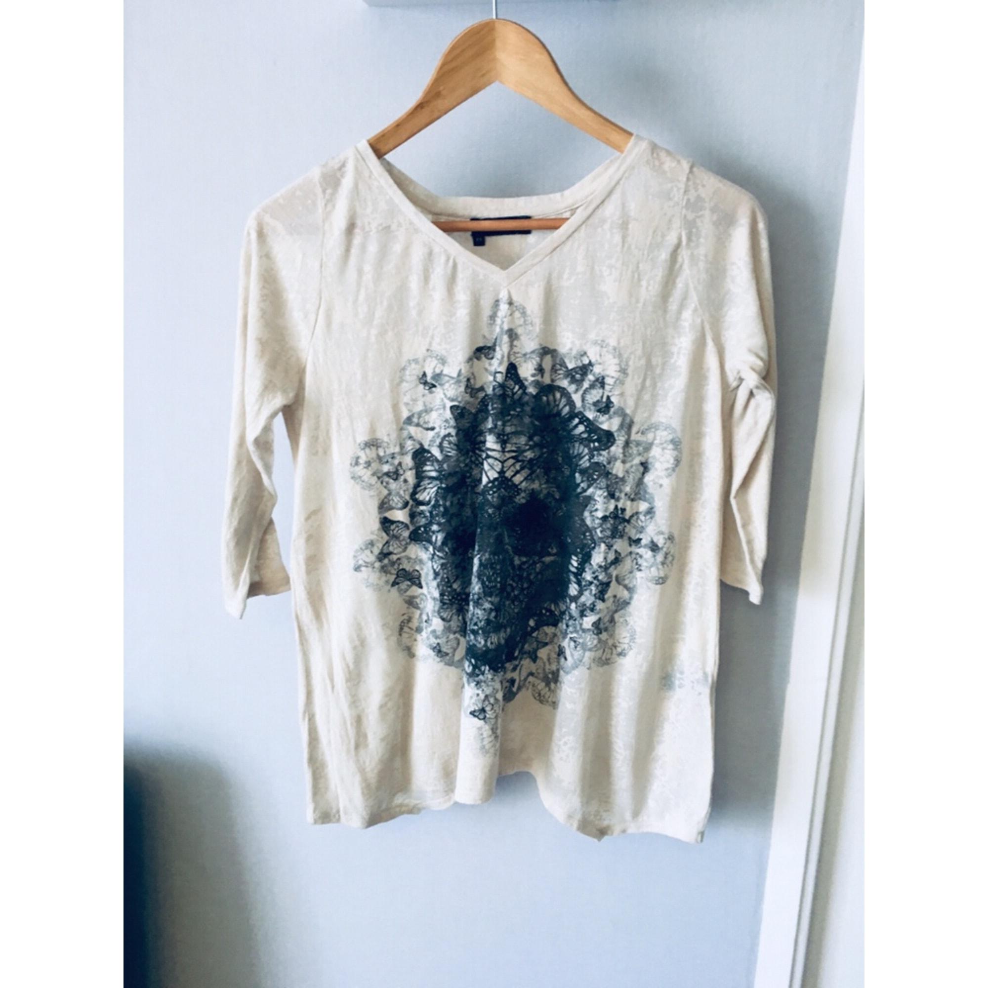 Top, tee-shirt THE KOOPLES Beige, camel