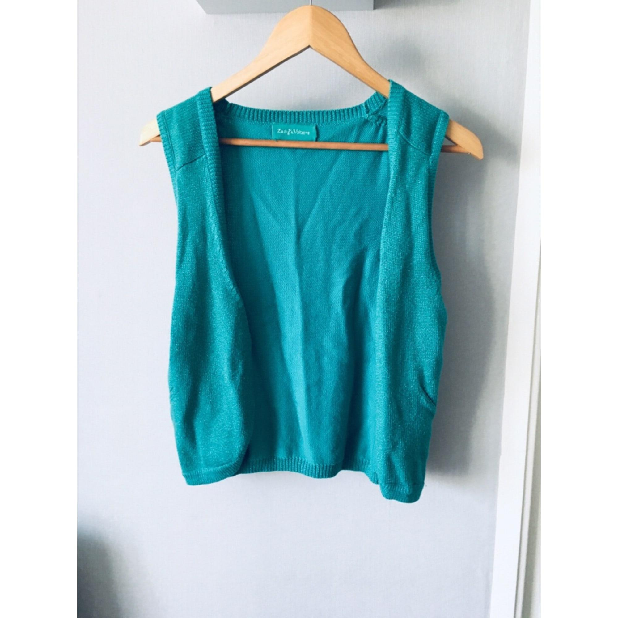 Gilet sans manches ZADIG & VOLTAIRE Bleu, bleu marine, bleu turquoise