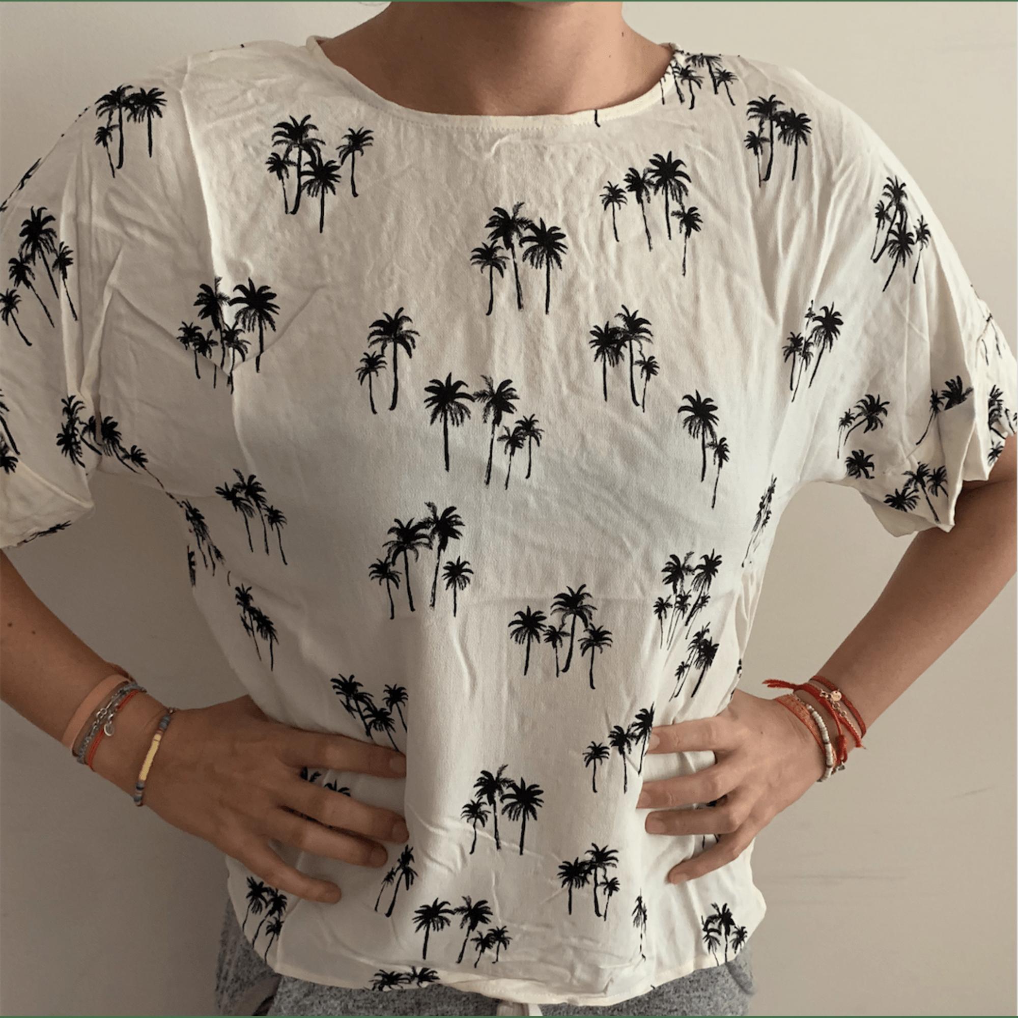 Top, tee-shirt H&M Blanc, blanc cassé, écru