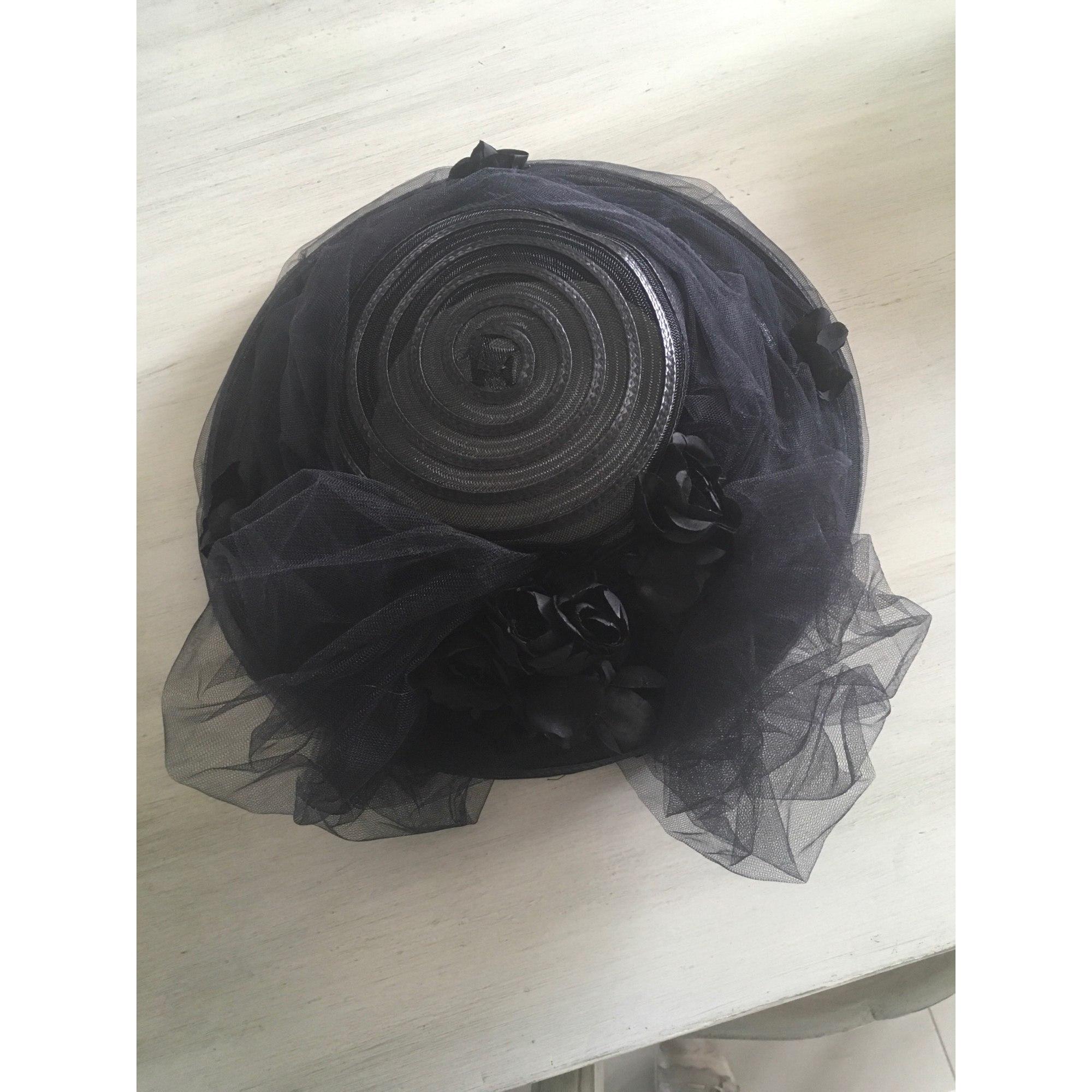 Chapeau de mariage CHAPEAU DE CÉRÉMONIE Noir