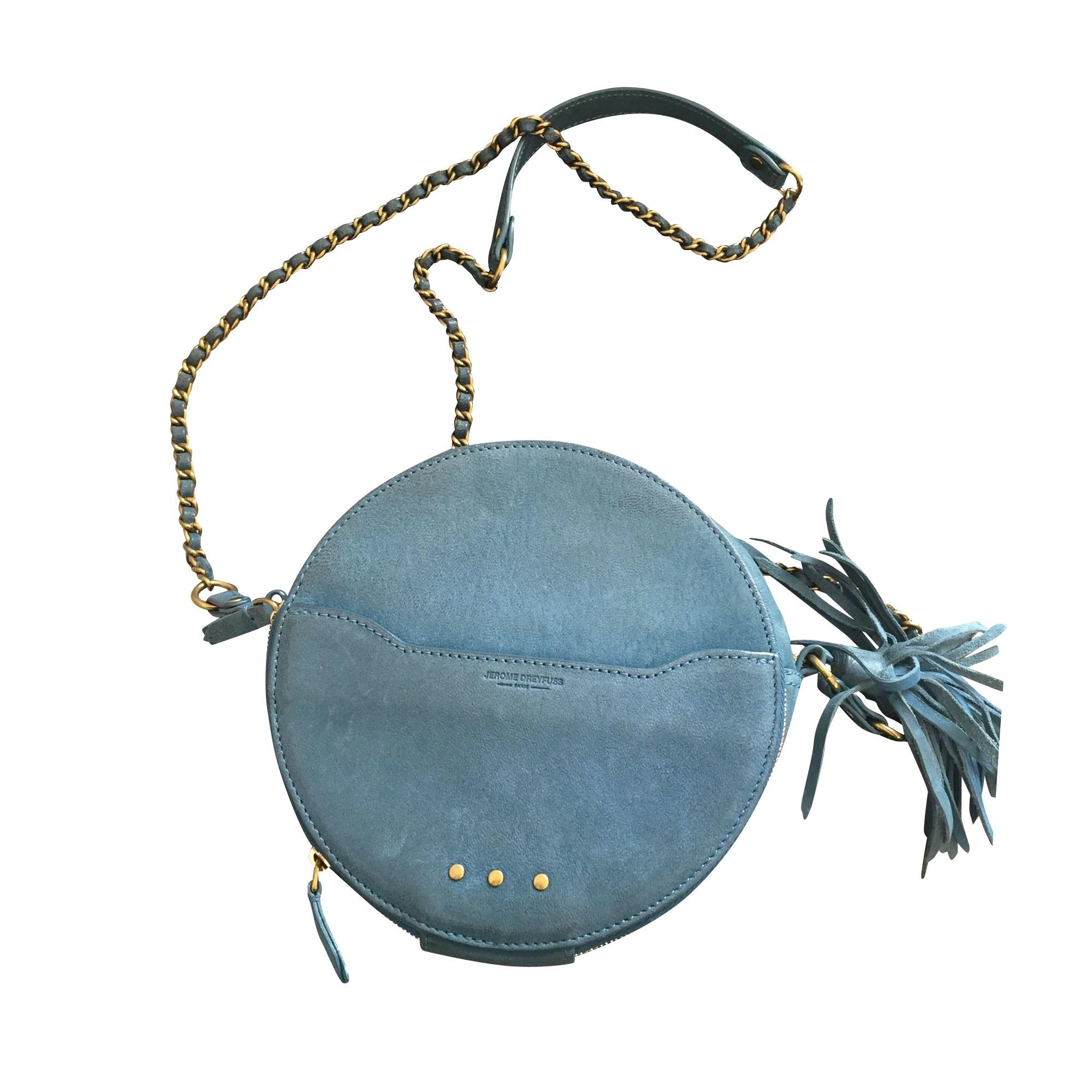 Sac en bandoulière en cuir JEROME DREYFUSS Bleu, bleu marine, bleu turquoise