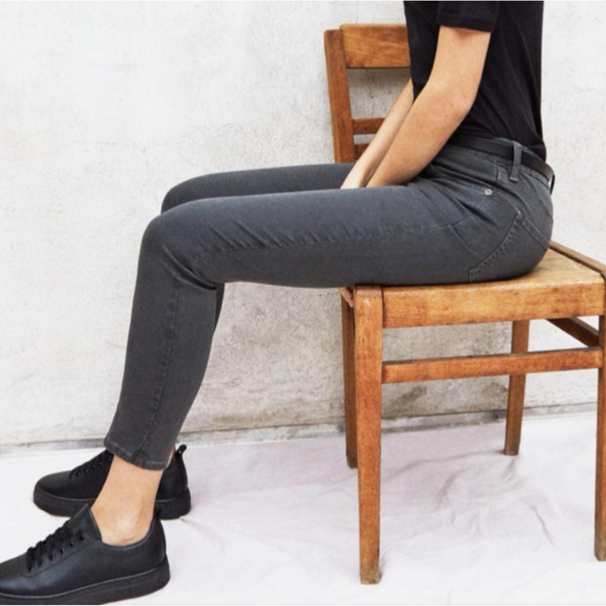 Jeans slim COMPTOIR DES COTONNIERS Gris, anthracite