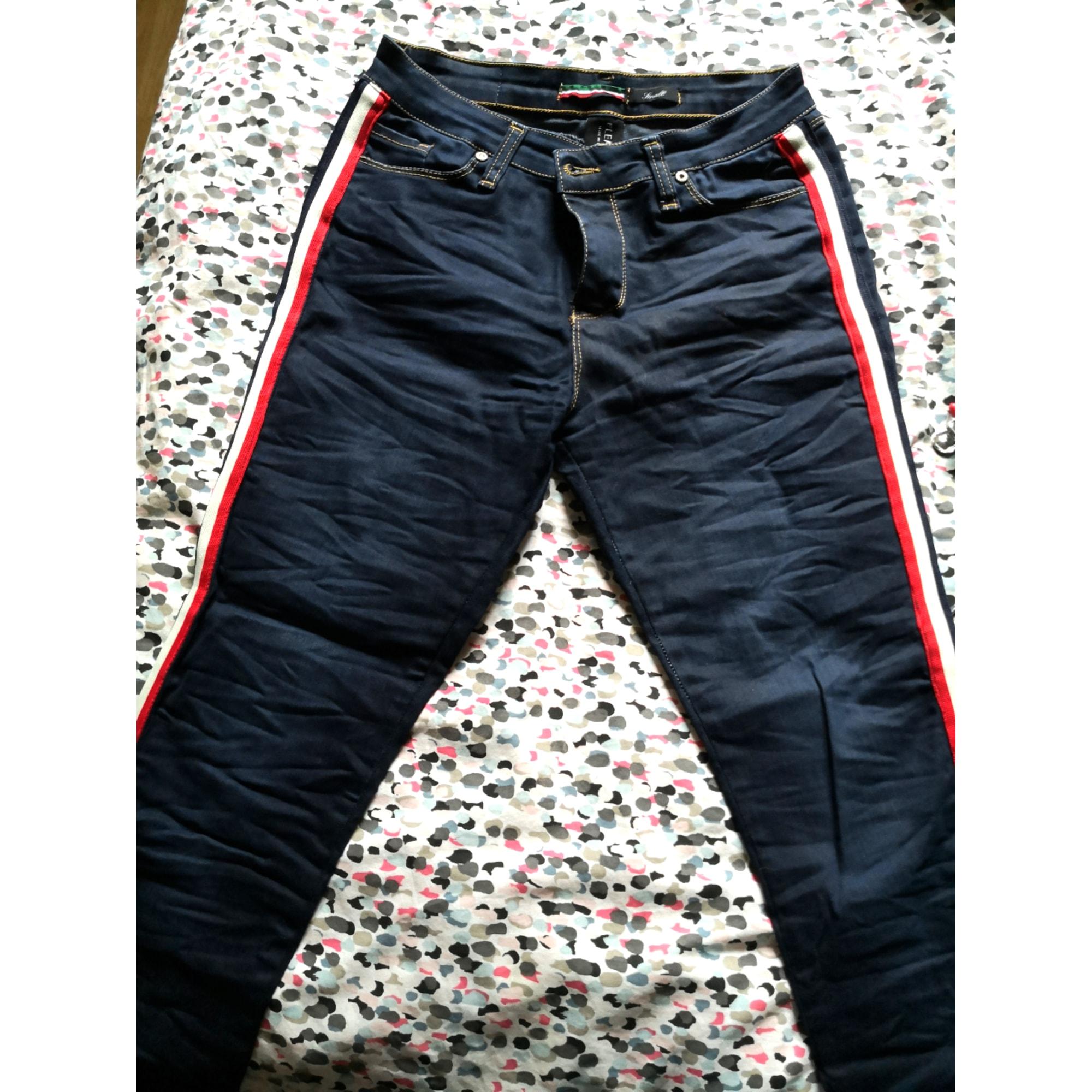 Jeans slim PLEASE Bleu, bleu marine, bleu turquoise
