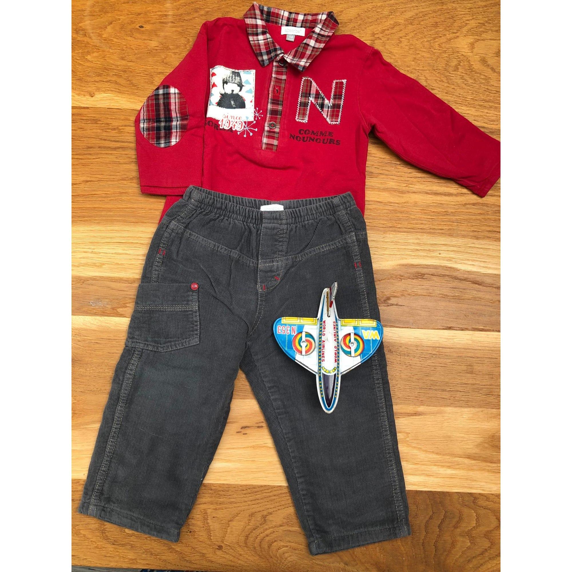 Ensemble & Combinaison pantalon ABSORBA Rouge, bordeaux