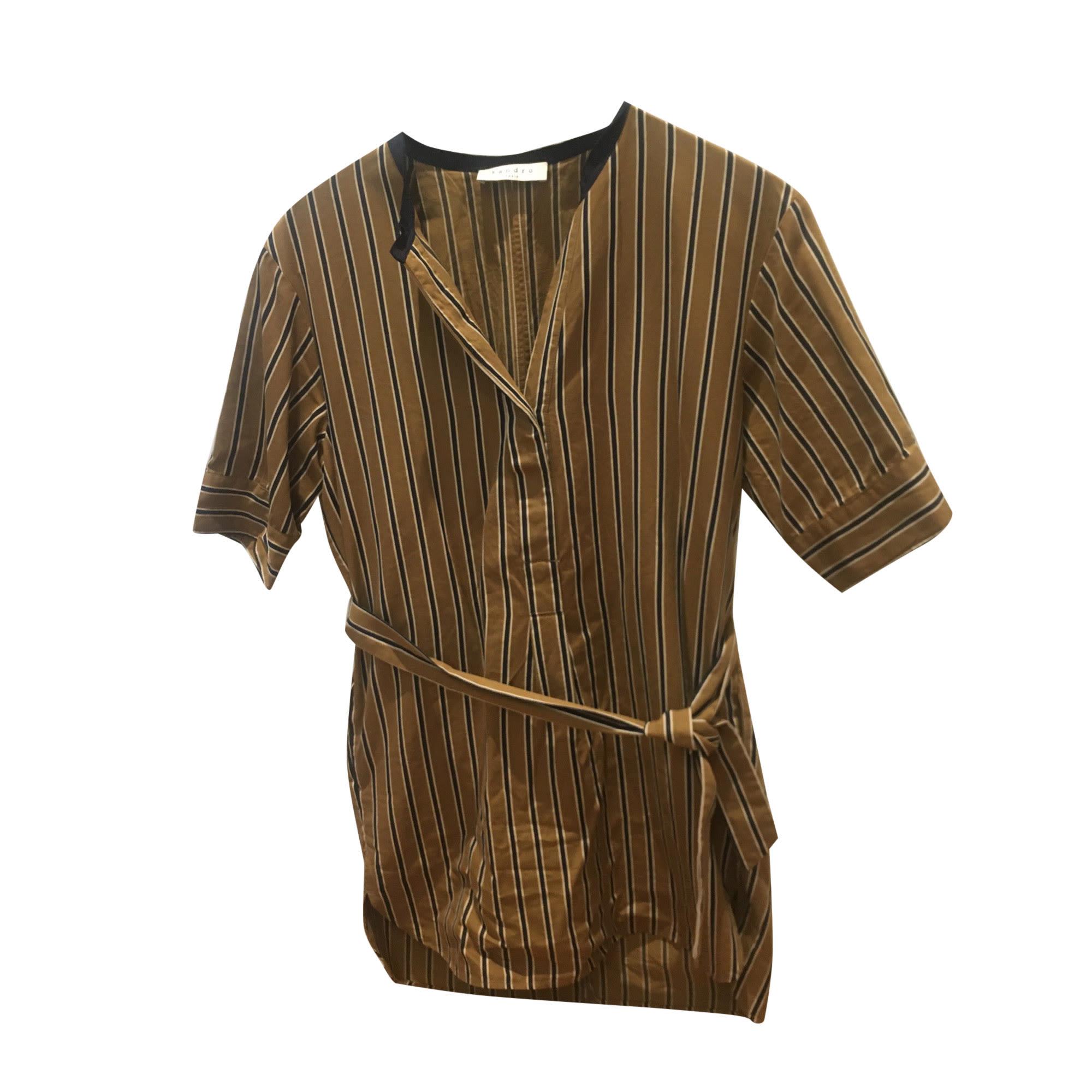 Robe courte SANDRO Beige, camel