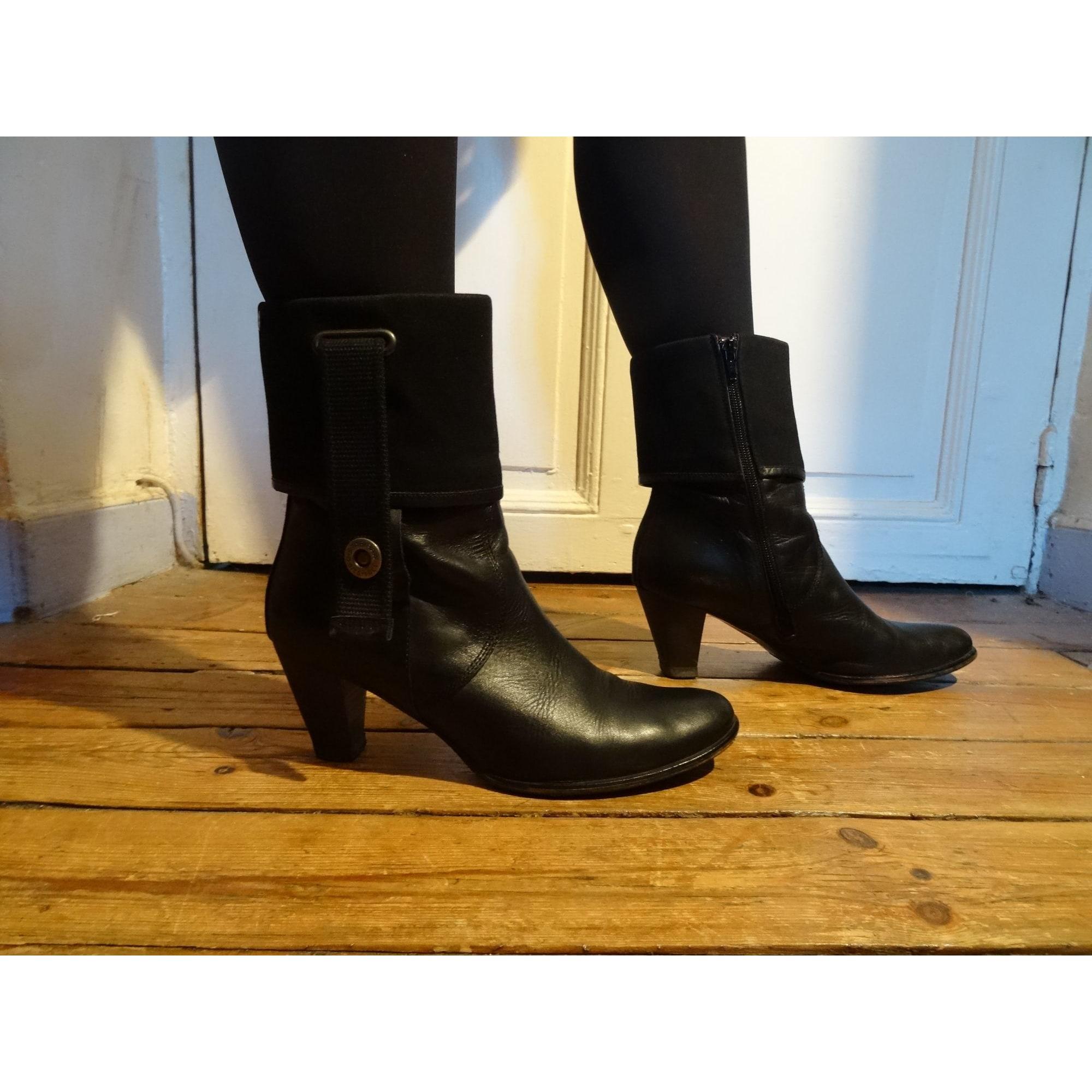 Bottines & low boots à talons DIESEL Noir