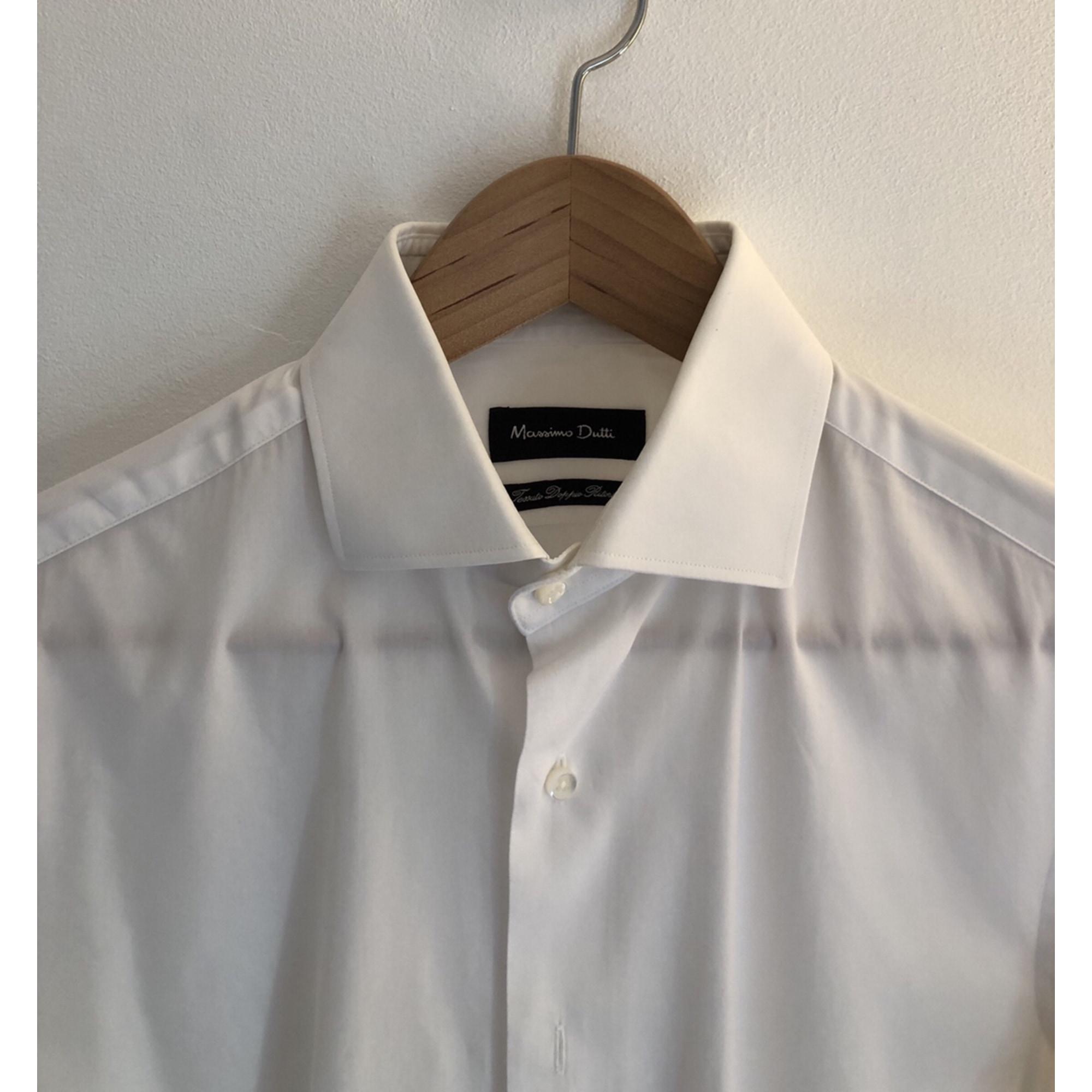 Chemise MASSIMO DUTTI Blanc, blanc cassé, écru