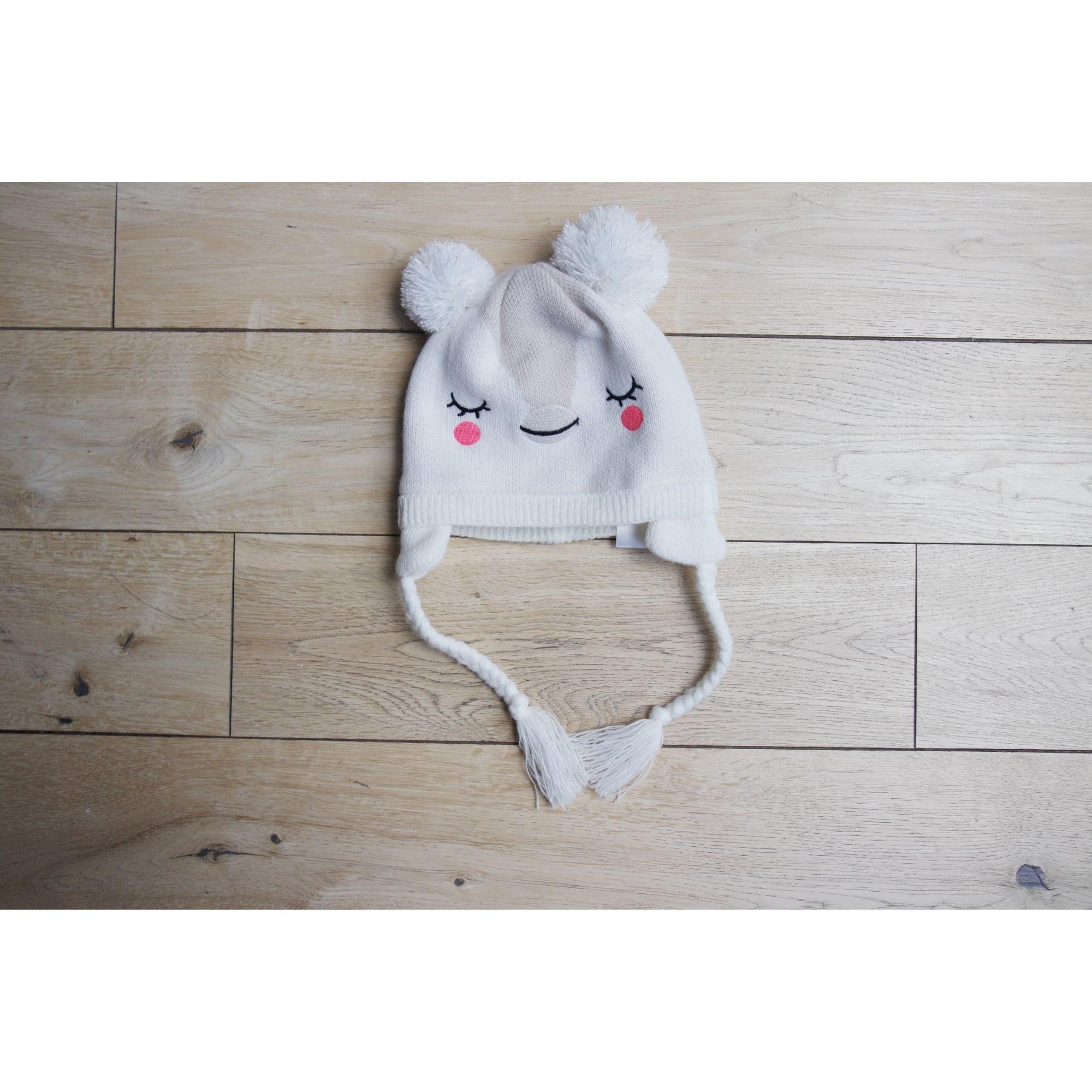 Bonnet DU PAREIL AU MÊME DPAM Blanc, blanc cassé, écru